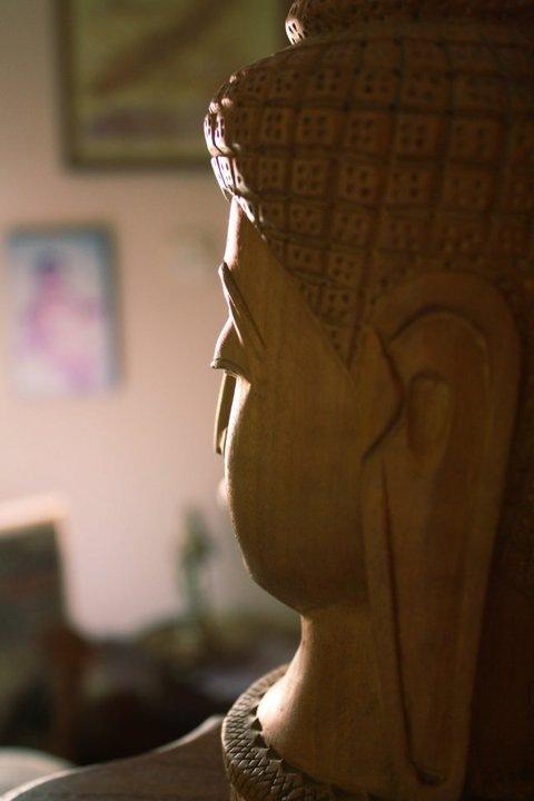 Touch Wood Buddha... by Mithun V Menon