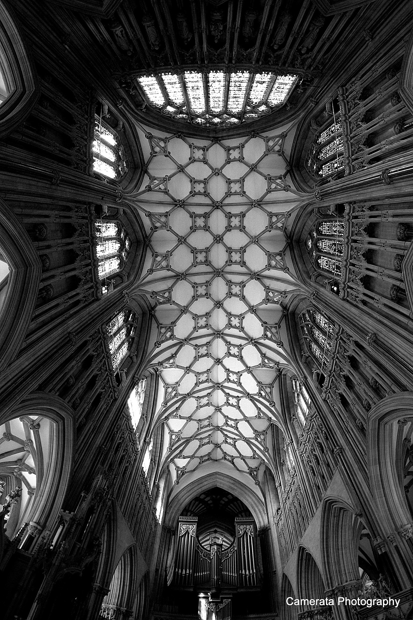 Wells Cathedral Interior by Naomi Caunce
