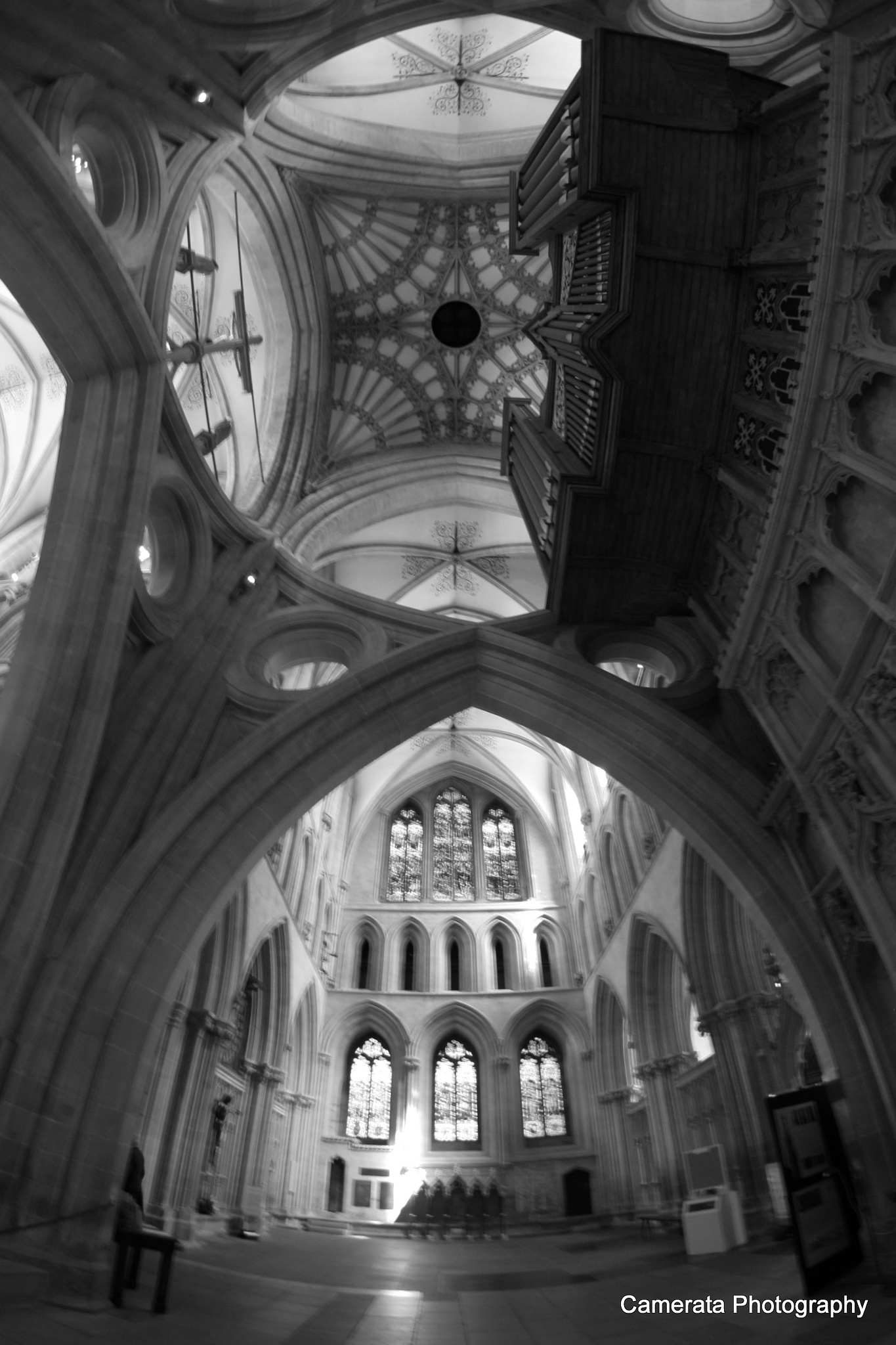 The Organ - Wells Cathedral Interior by Naomi Caunce