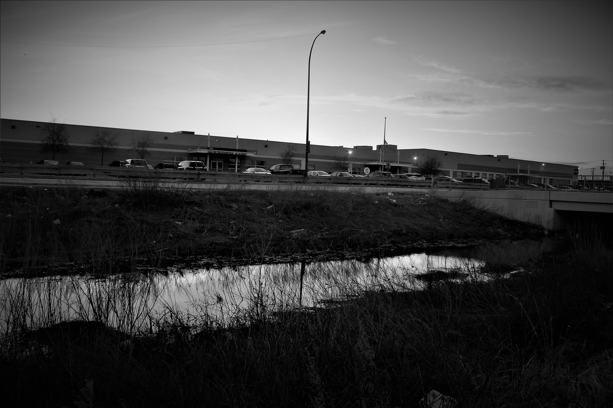 Waterway and Warehouses by David Imrie