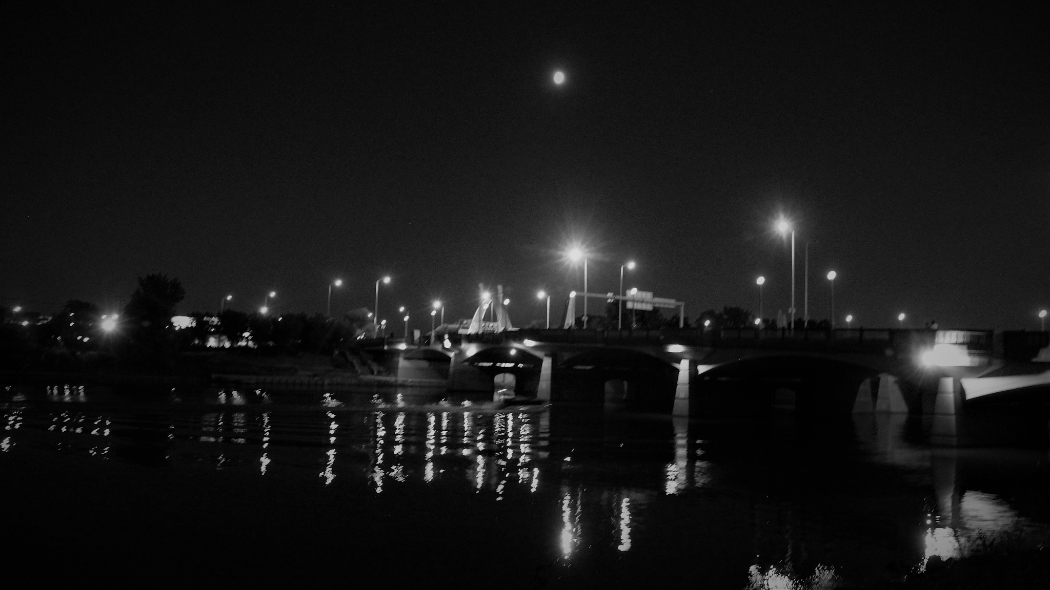 Full Moon - Black and White by David Imrie
