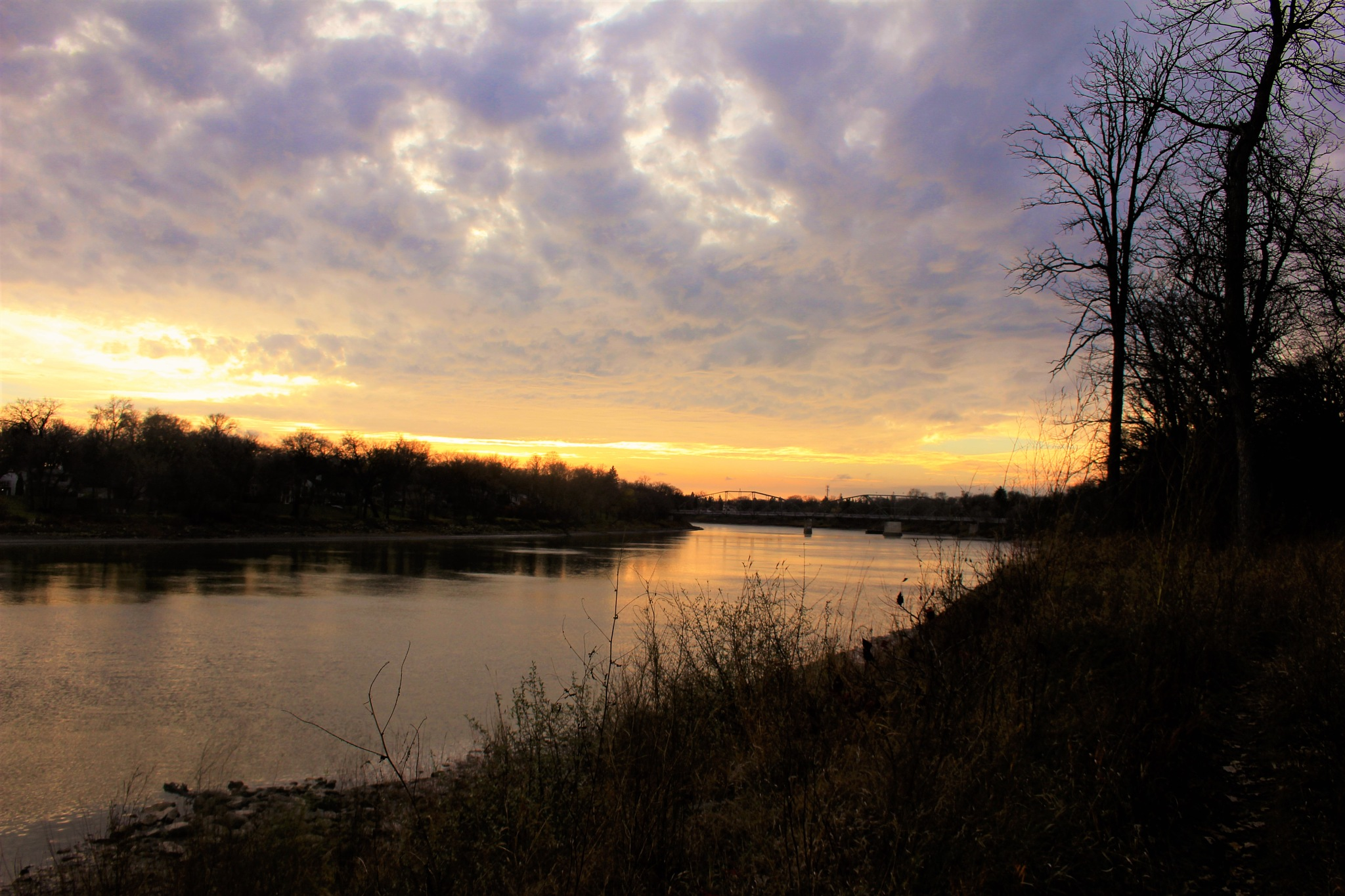 Red River Sunset  by David Imrie