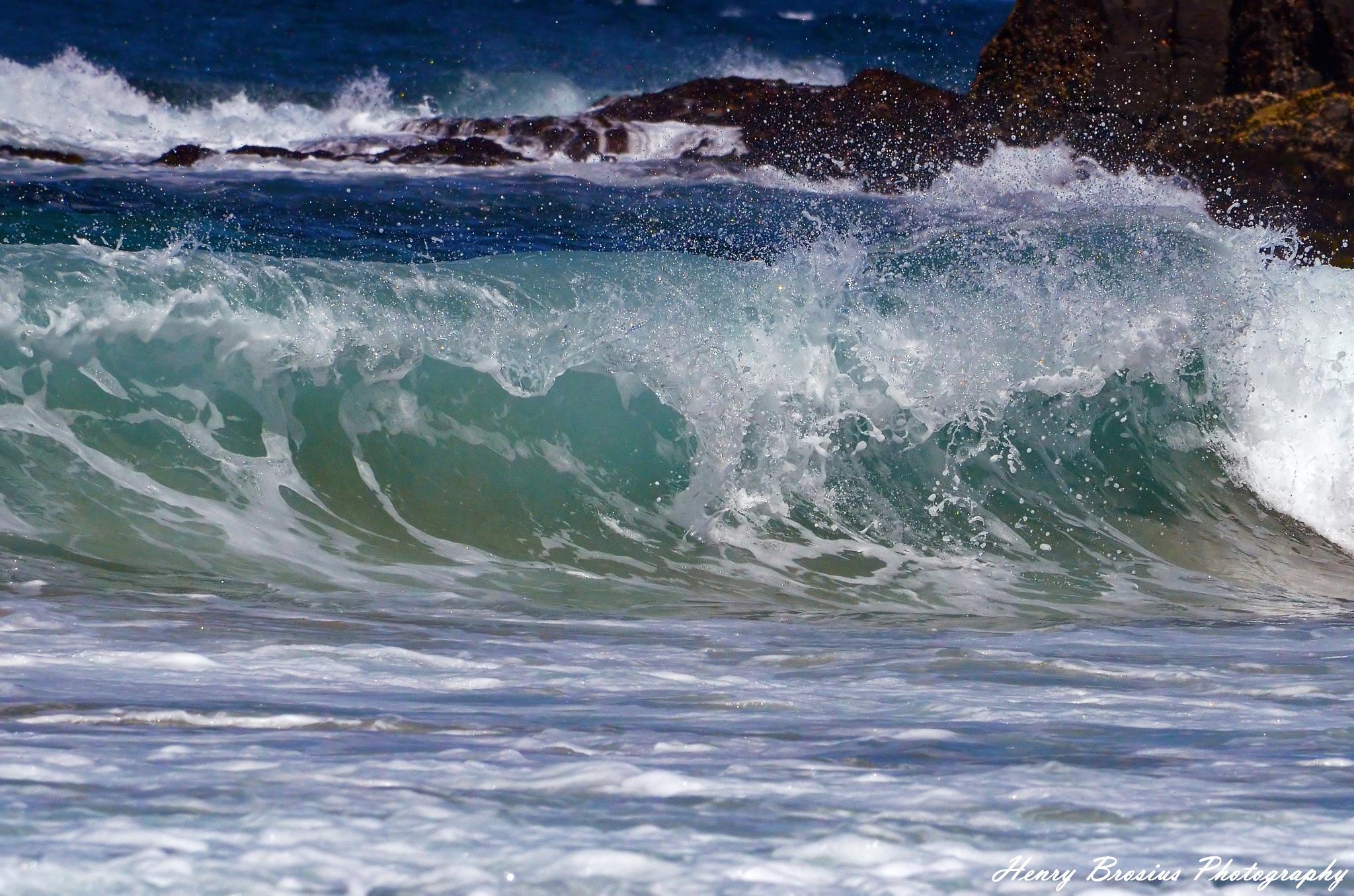 Kiama Beach Curl  by Henry Brosius