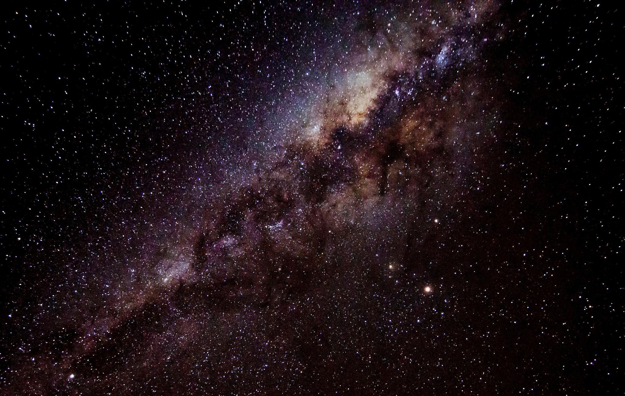 Milky Way & Mars  by Henry Brosius