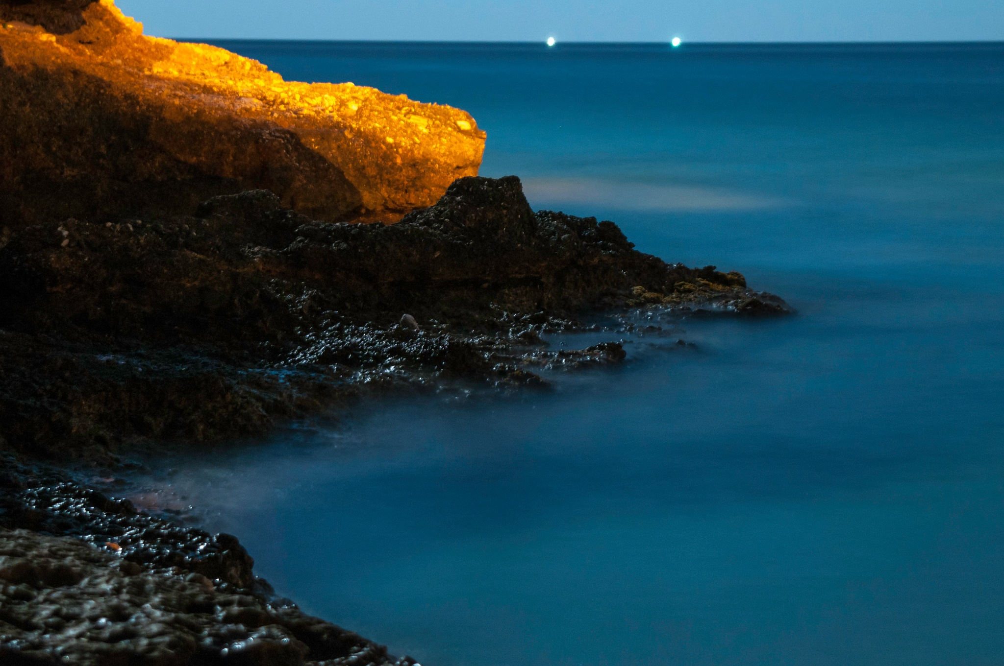 Sea at night #3 by stratos