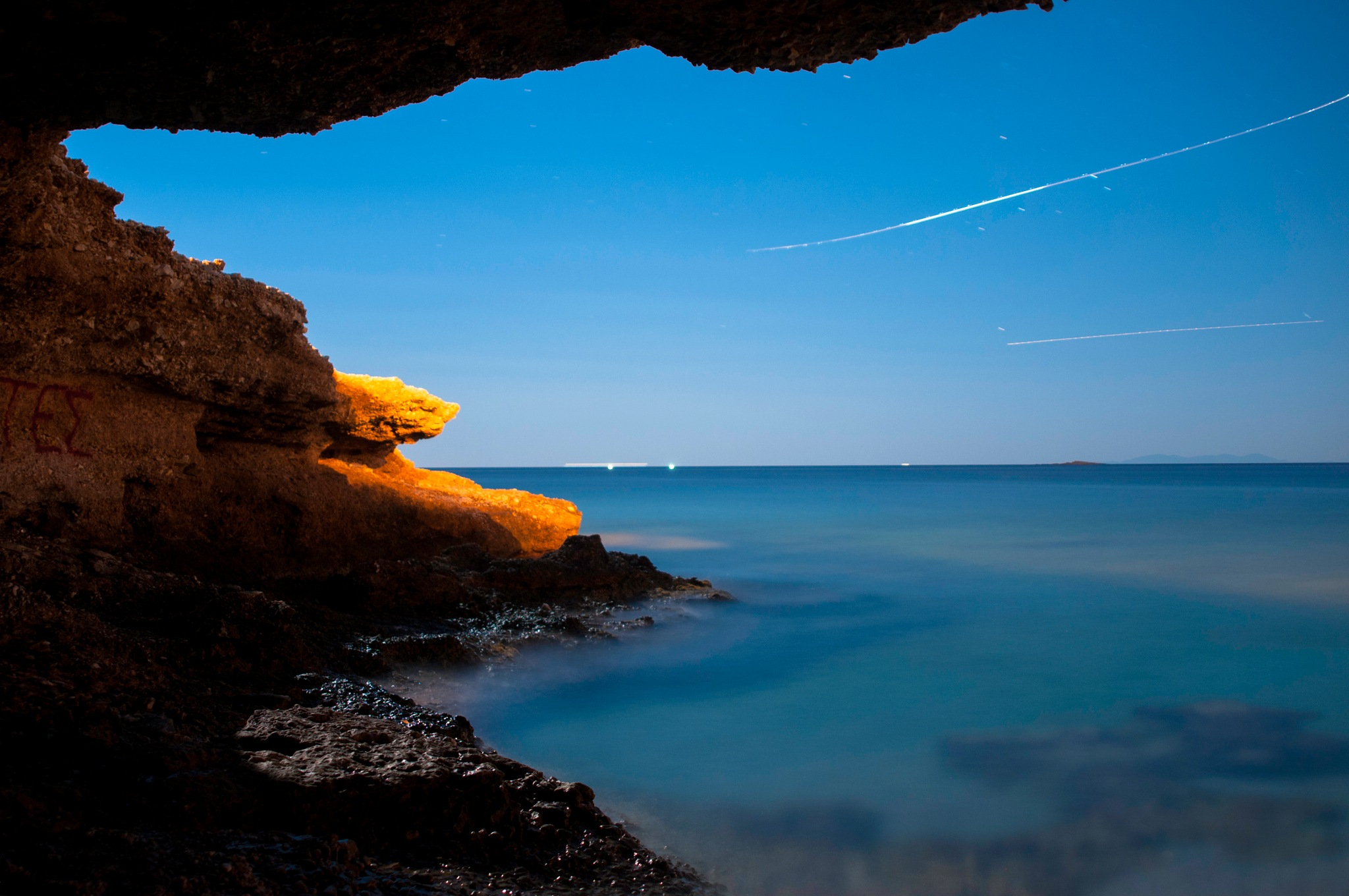 Sea at night #1 by stratos