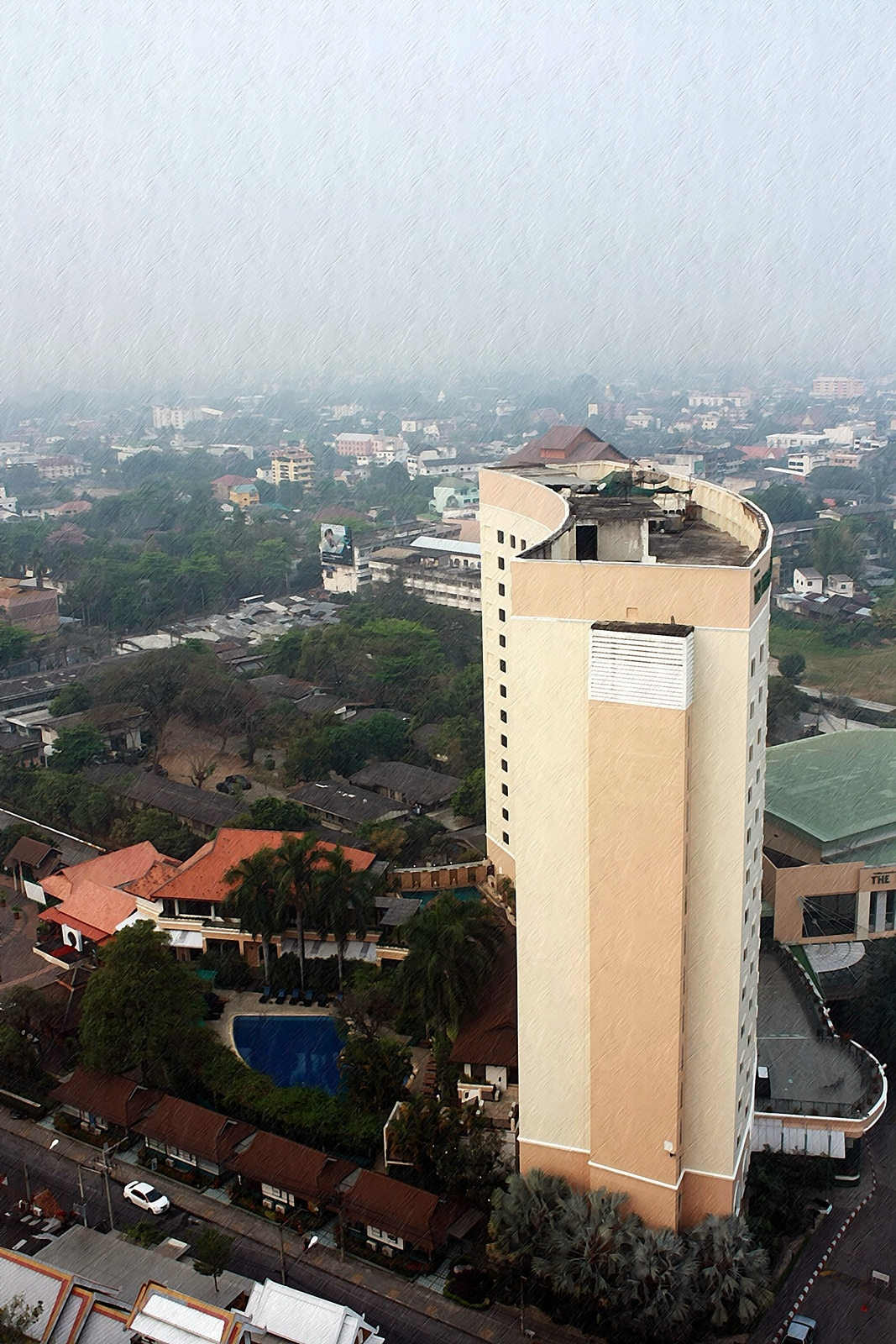 Photo in Cityscape #high buildings in chiang mai #chiang mai #hotel in chiang mai
