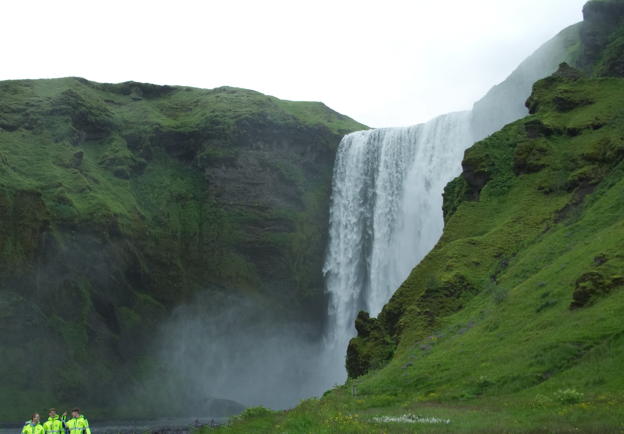 Three green and one waterfall. by Dadi Gudbjornsson