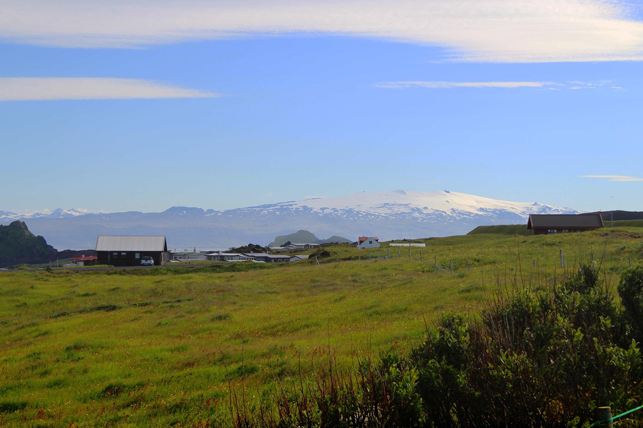 Eyjafjallajökull-seen-from-Vestman-islands by Dadi Gudbjornsson