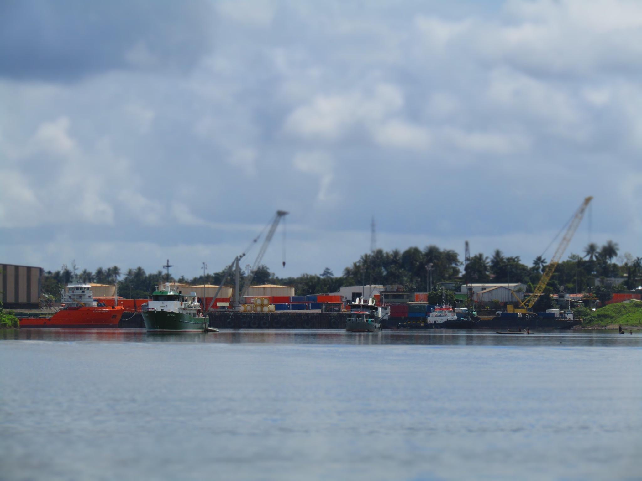 Ok Tedi Wharf by Ghee_Anas