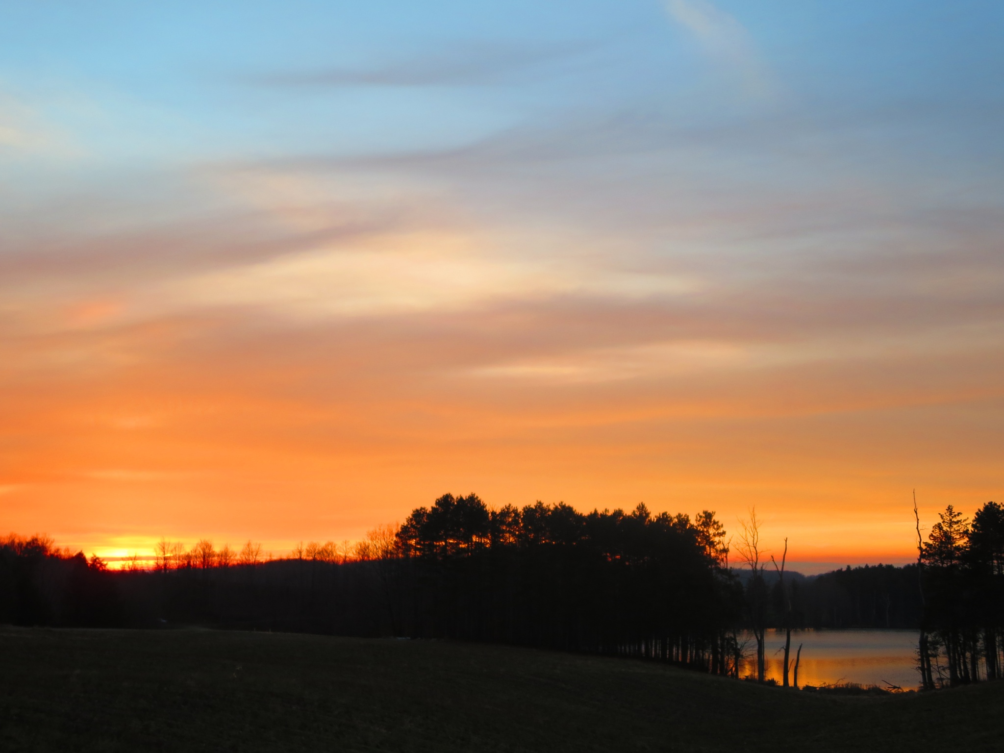 December sunset in the Finger Lakes, NY by sweiland