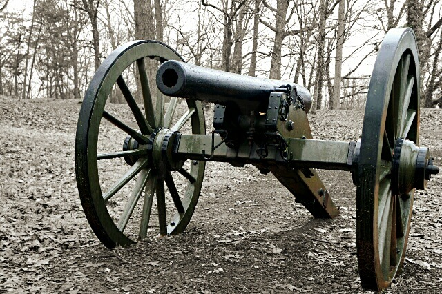 Cannon in black and white. by Paul Hopson