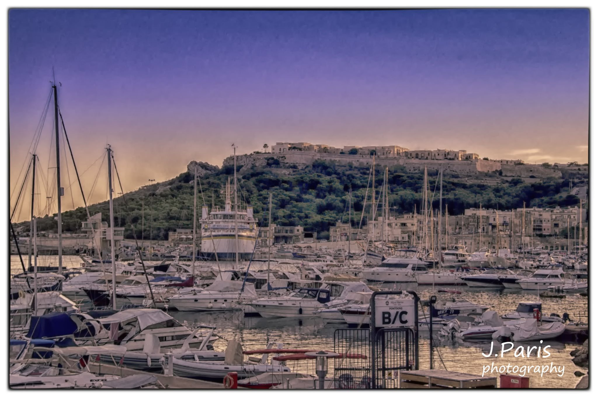 Mgarr harbour by Jonathan Paris