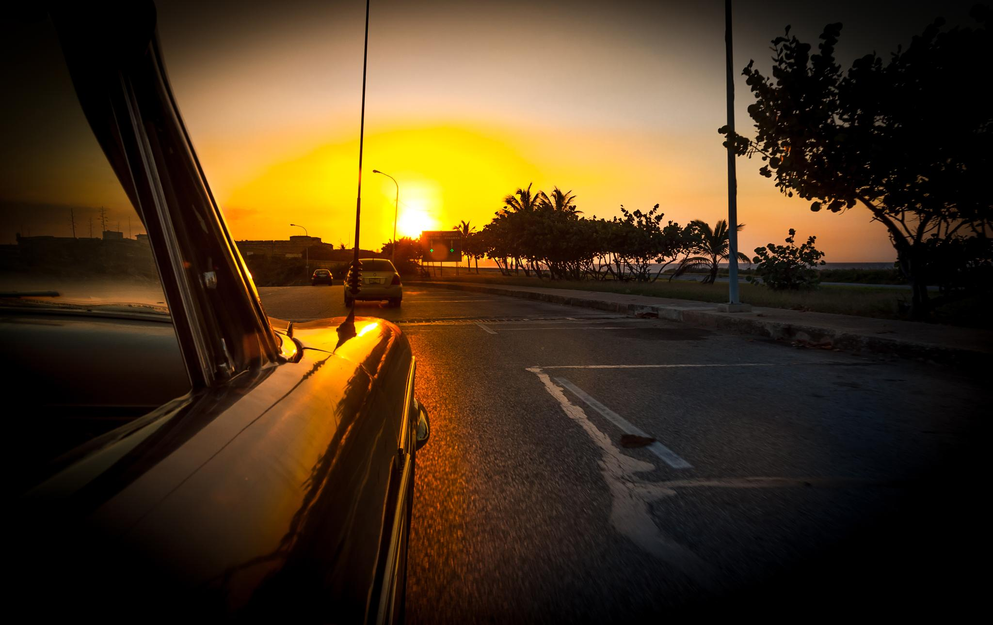 Driving into the sunset by K.Bargiel