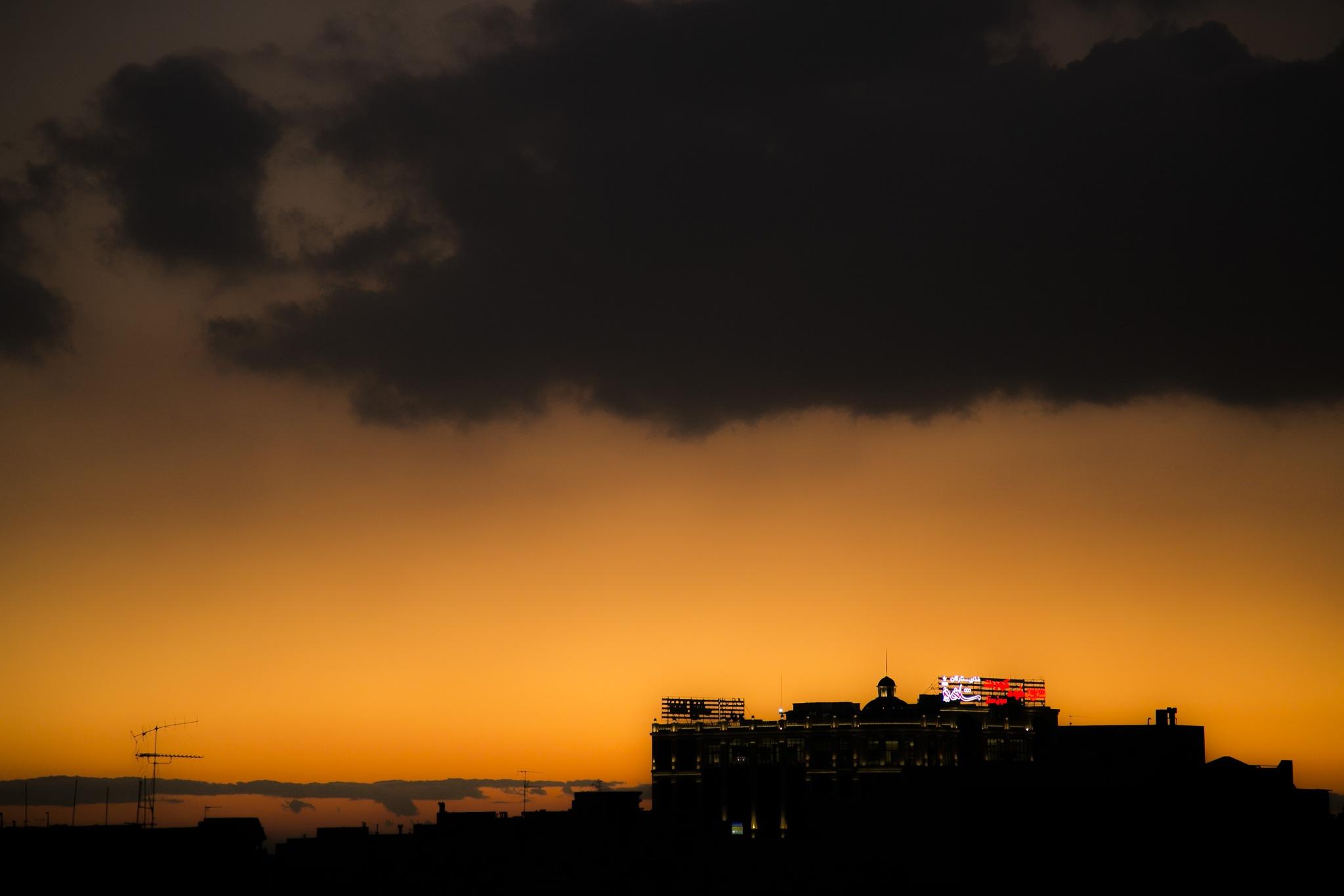 Tehran sunset by Babak Javid