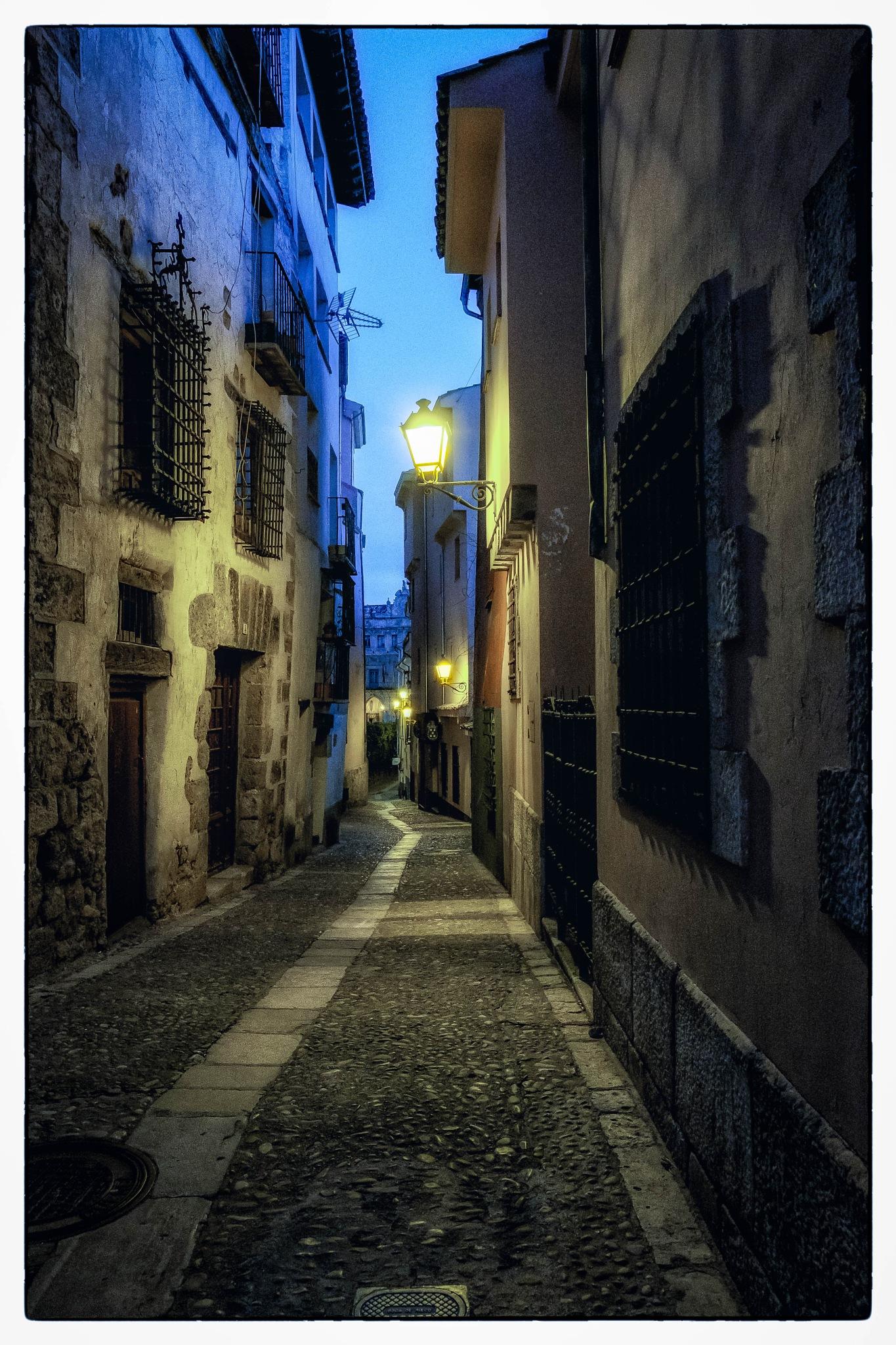 Old street at night by Jose Luis Quijada