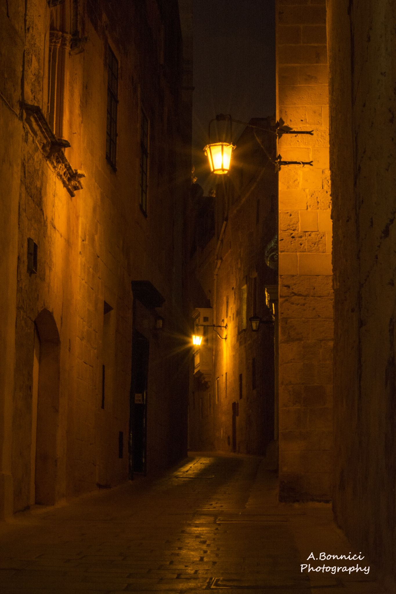 The Ancient City By Night by Anthony Bonnici