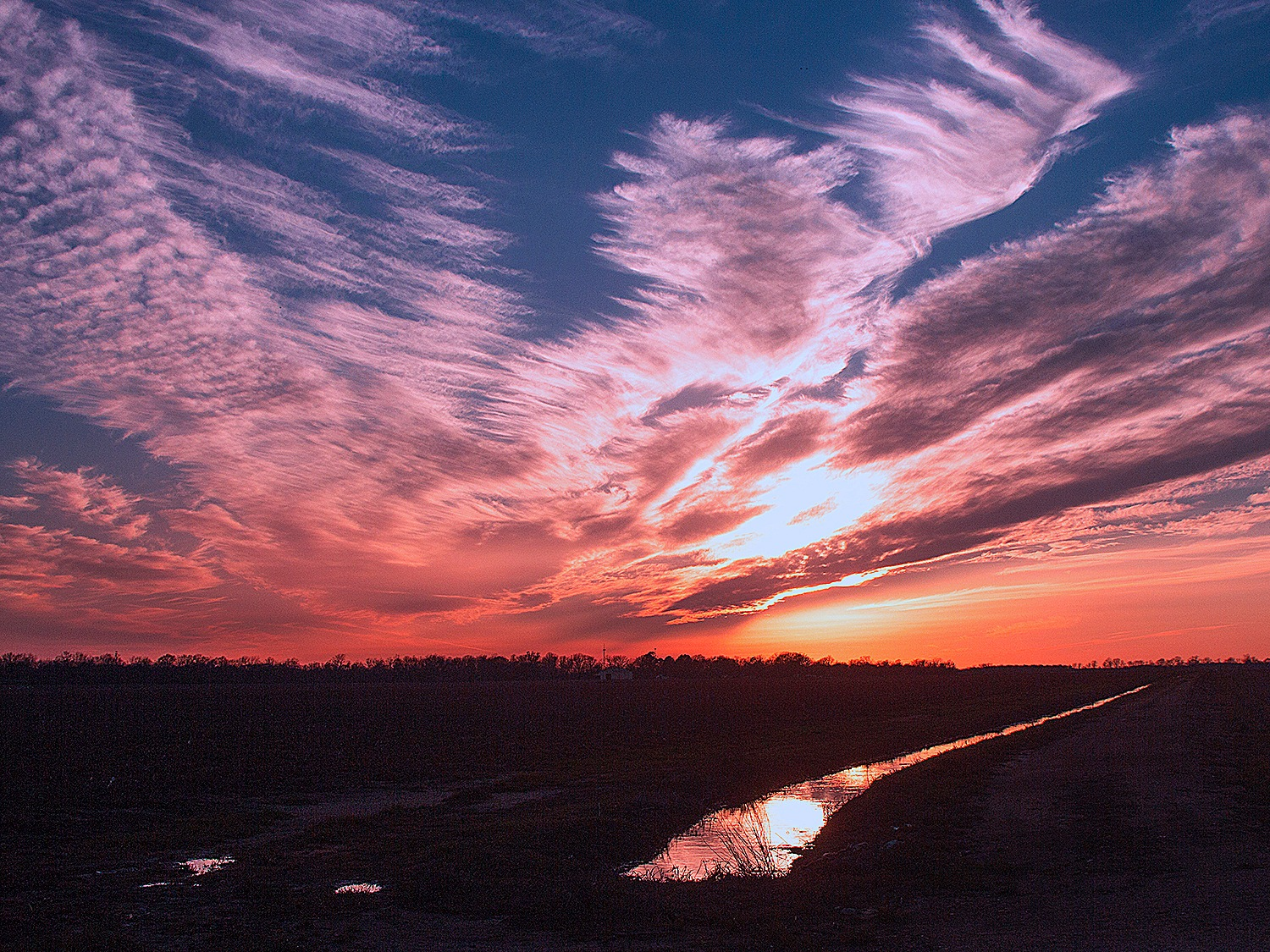 Mares Tails at Sunset by Joe Seawright