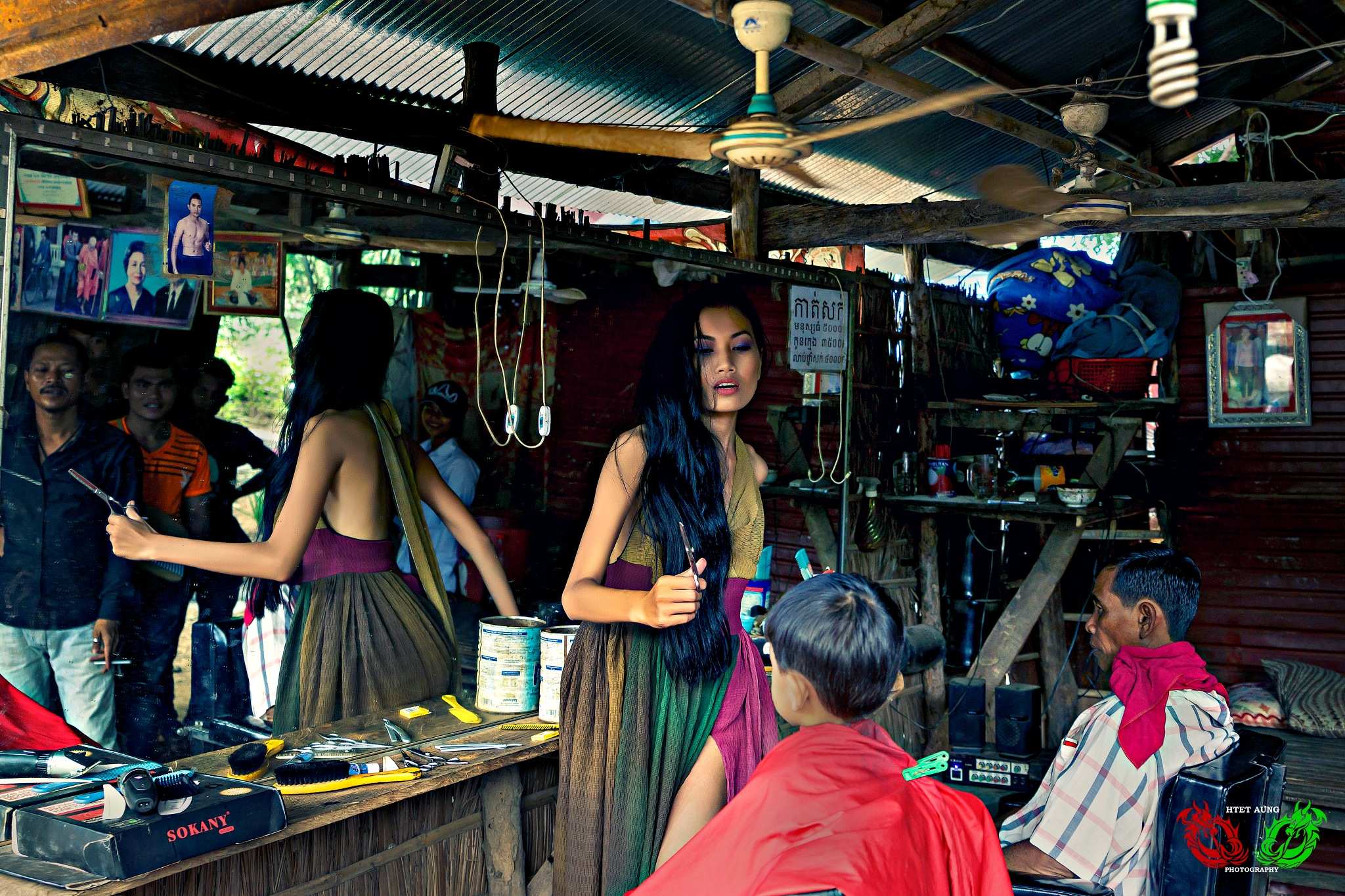 Barber Shop by Htet Aung