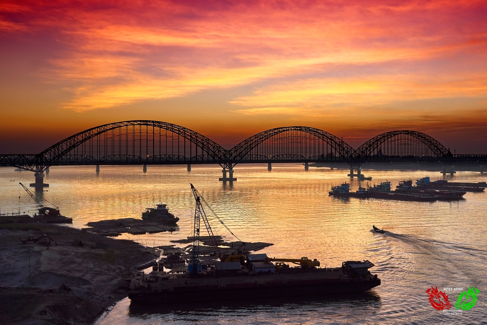 Sagaing Bridge by Htet Aung