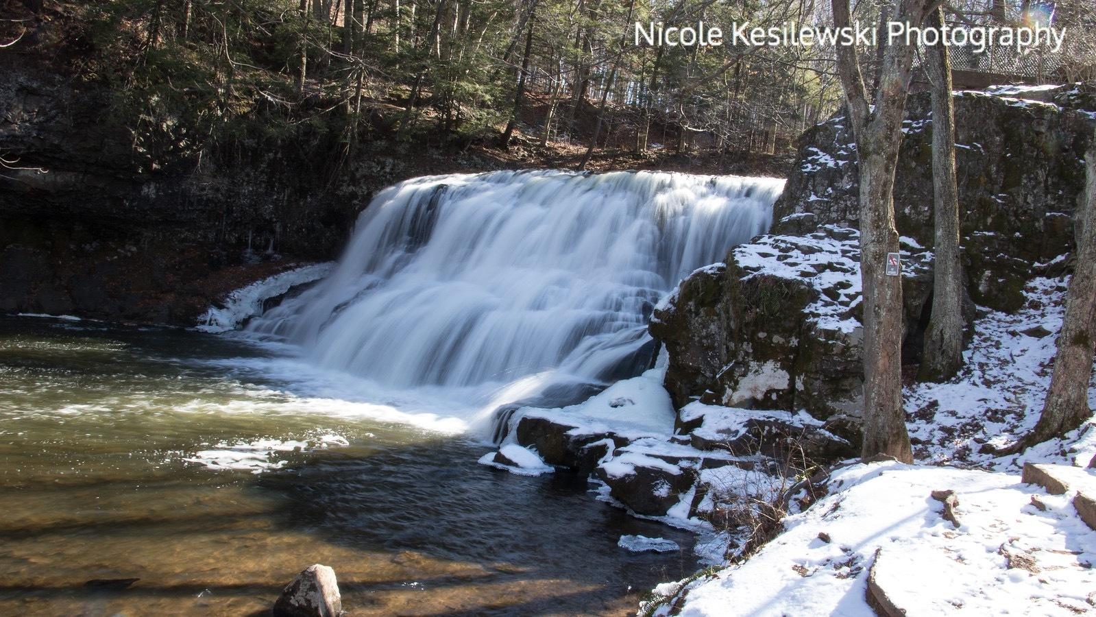 Wadsworth Falls  by Nicole Kesilewski Photography