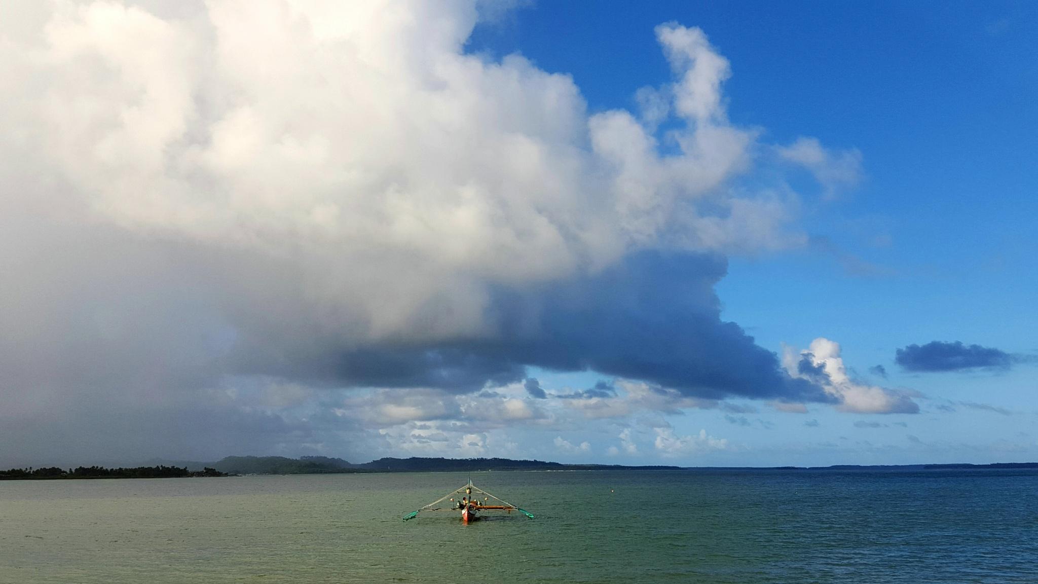 Bicolored Sea by Erlinda Bocar Kantor