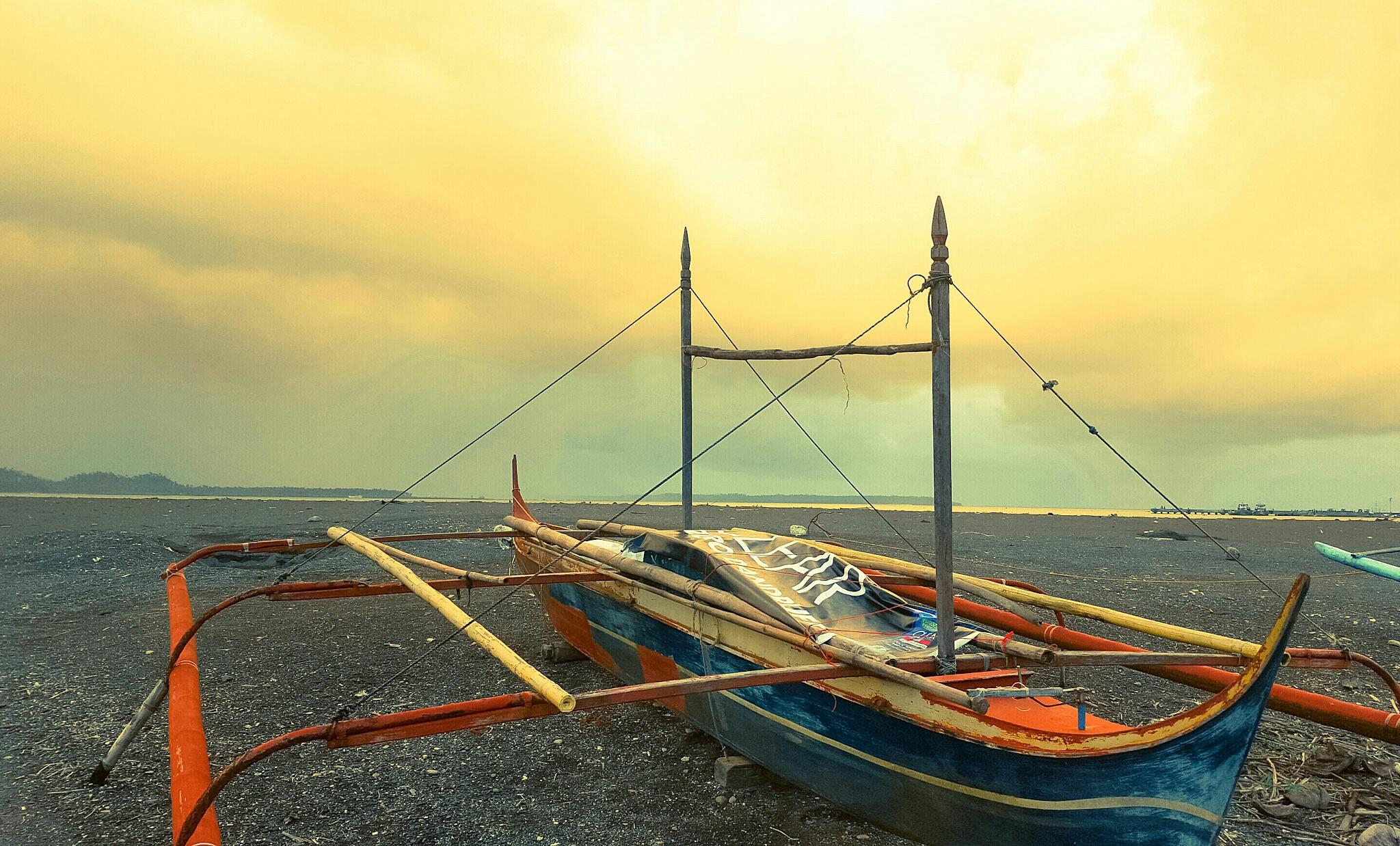 Rustic Fishing Boat by Erlinda Bocar Kantor