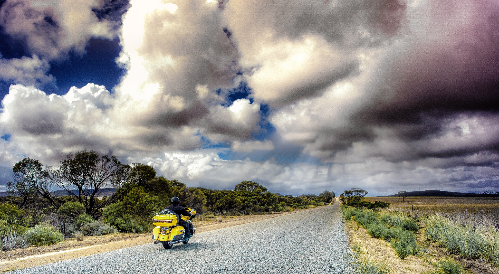 Wheat Belt Ride, Country Western Australia. by Peter Holton