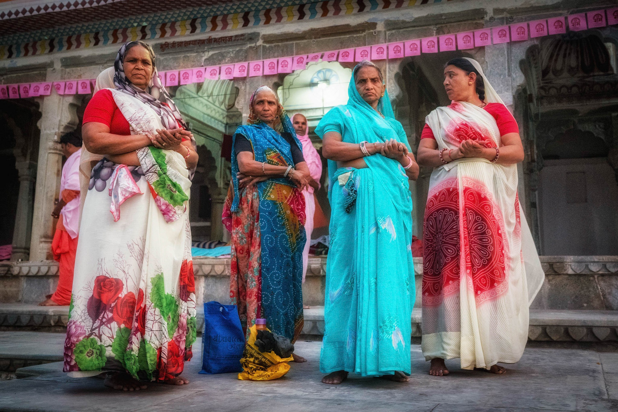 Temple women, India. by Peter Holton