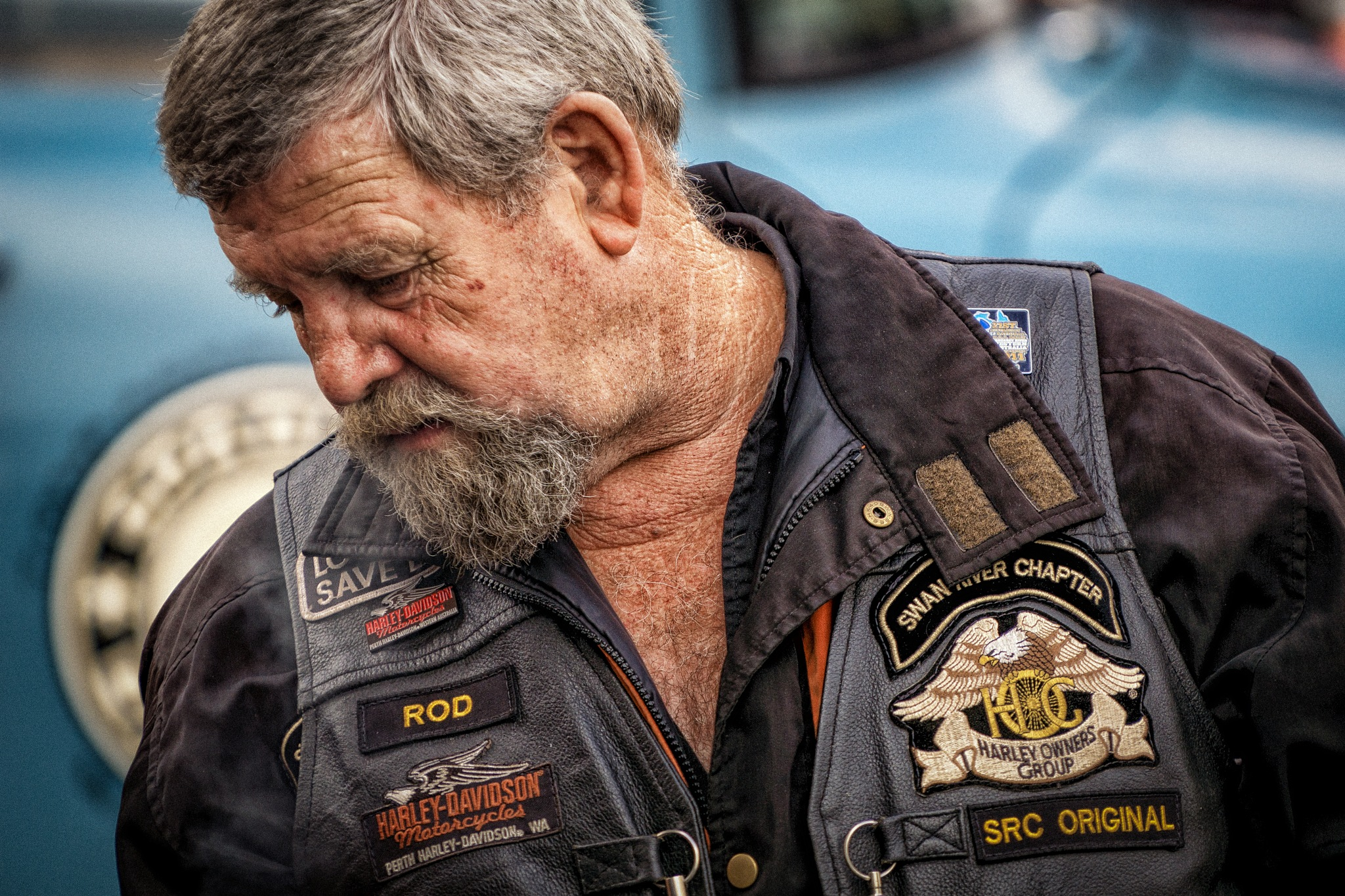 Biker, Perth. by Peter Holton