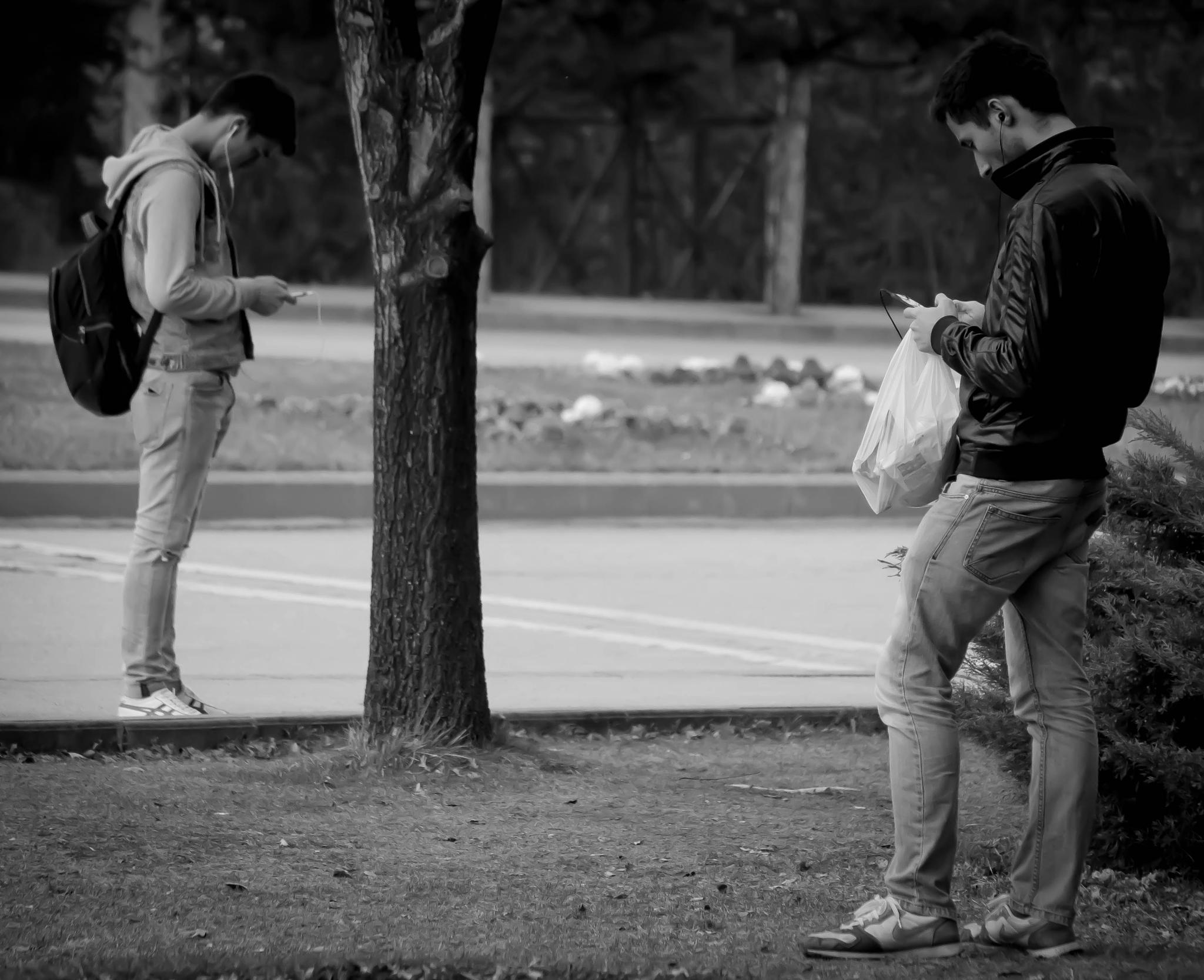 waiting for the bus by Lee Russell Wilkes