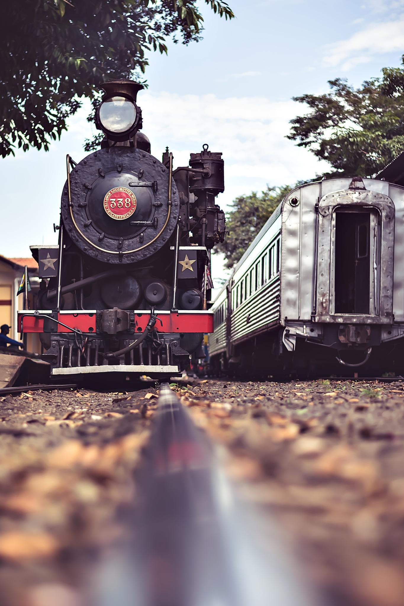 Trem na estação by Sandro Assis