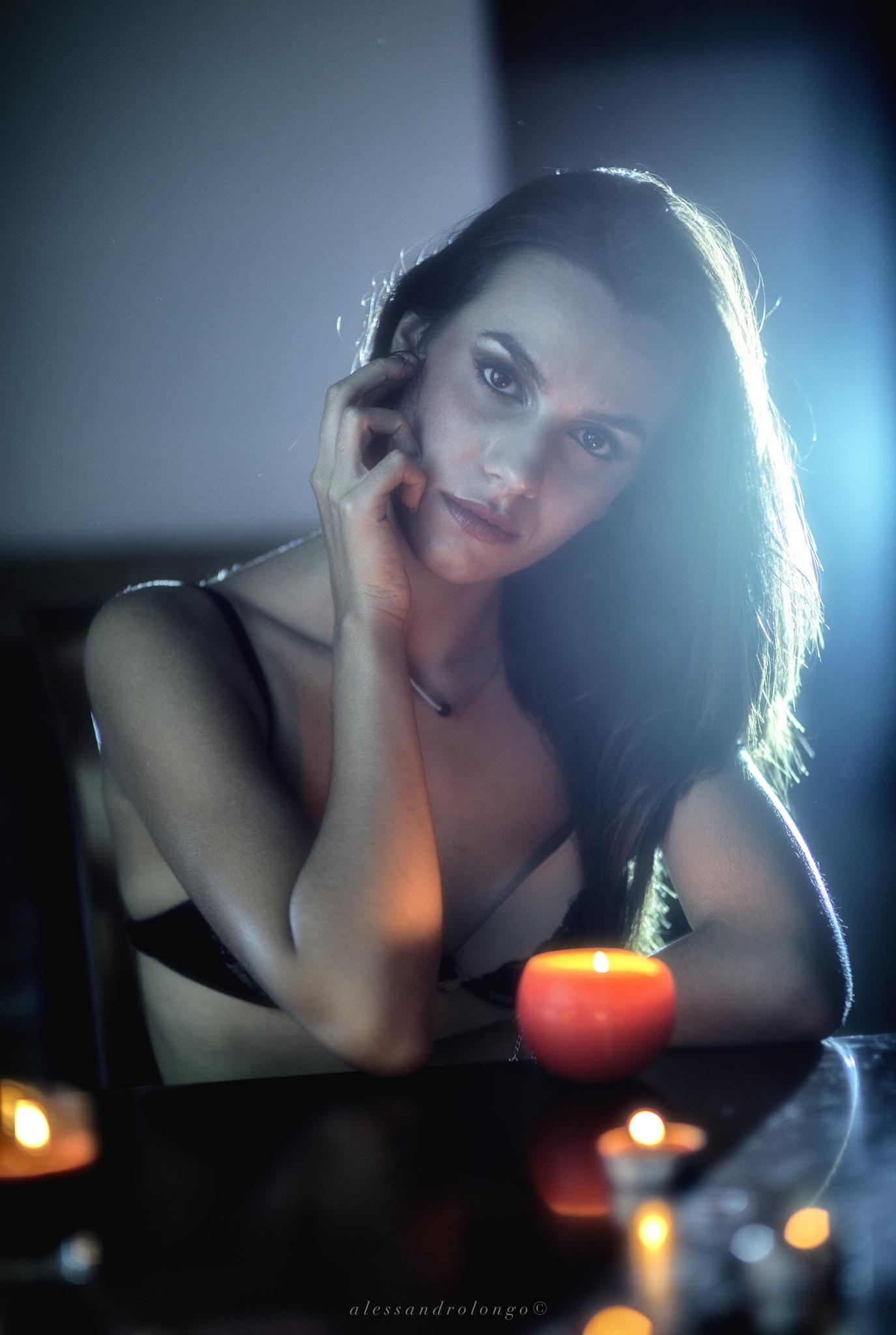 Girl with candle 2 by Alessandro Longo