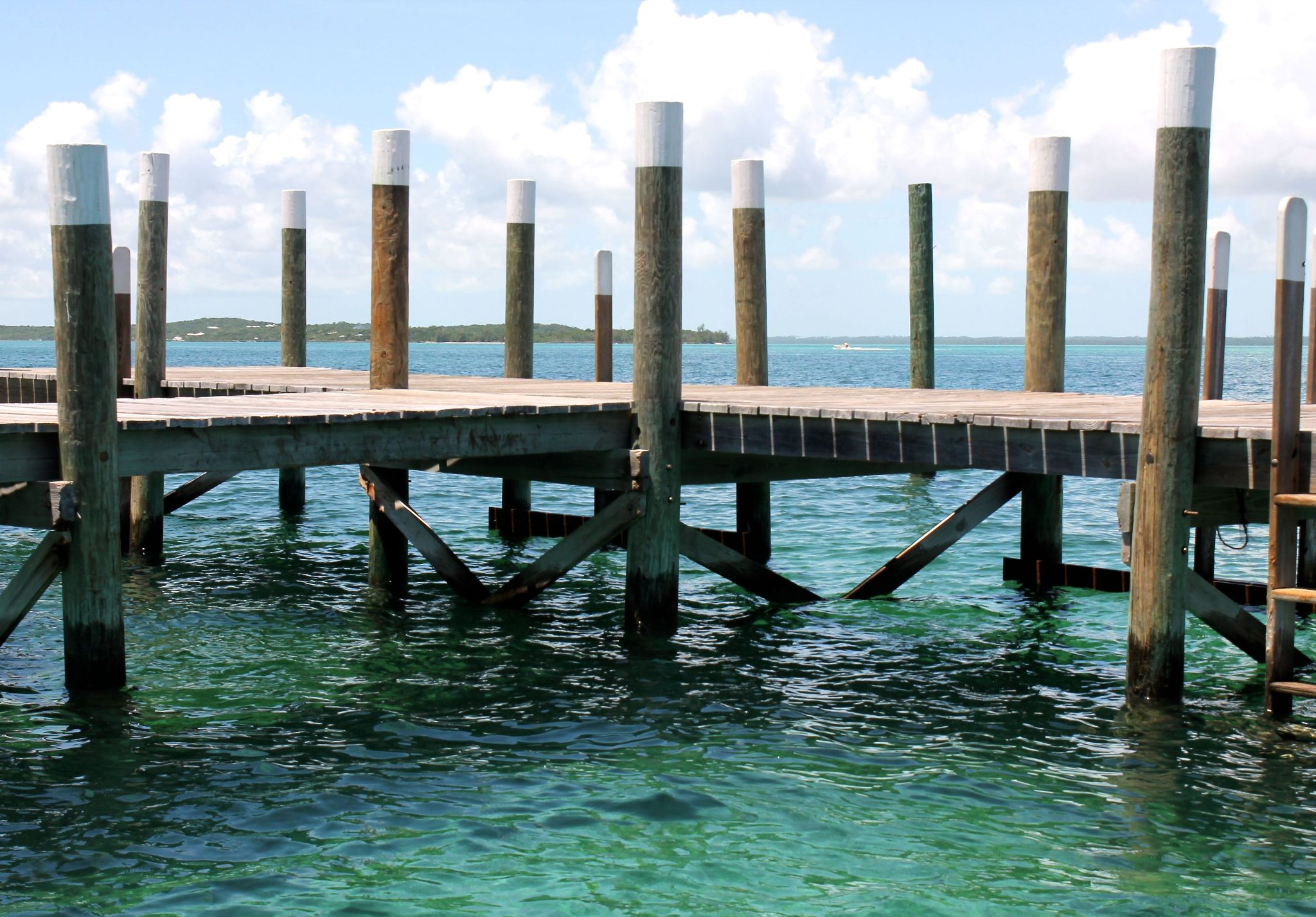 A jetty - Hope Town , Bahamas by Sandra Dubout