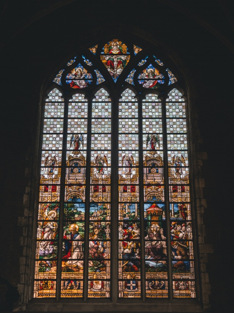Saint Bavo's Cathedral Stain Glass Window by draycottphotography