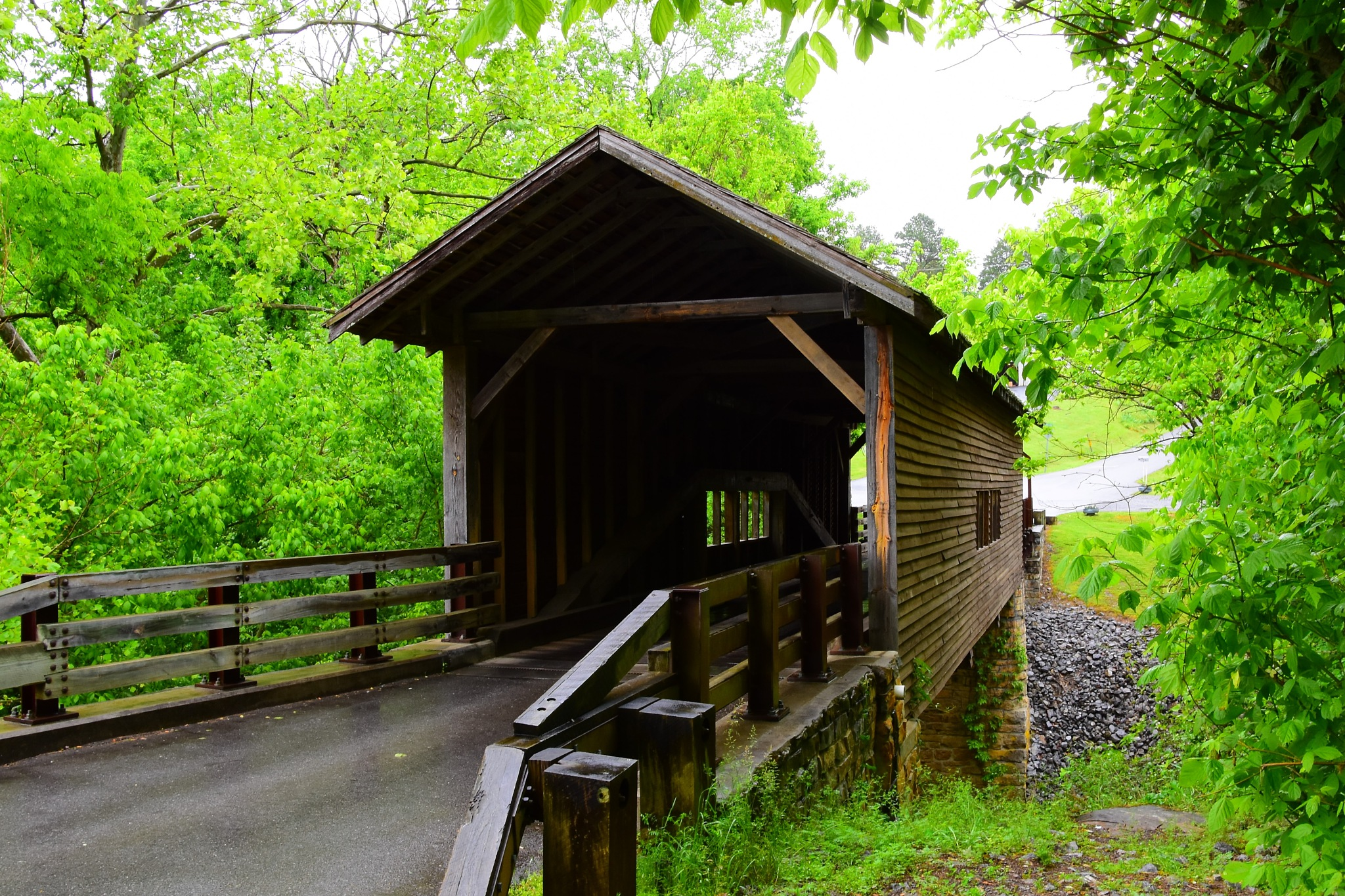 Harrisburg Covered Bridge 2 by Greg Knott