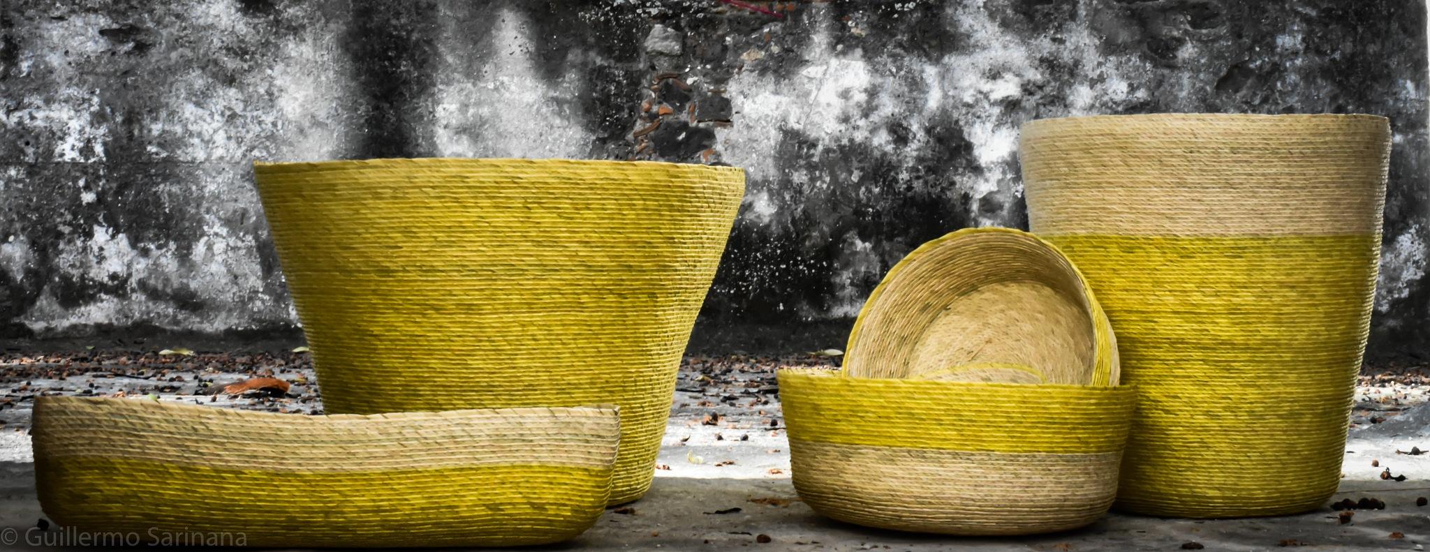Hand made baskets by Guillermo Sariñana Siller