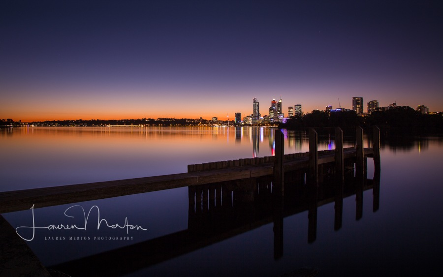 Jetty and city by Laurenmerton