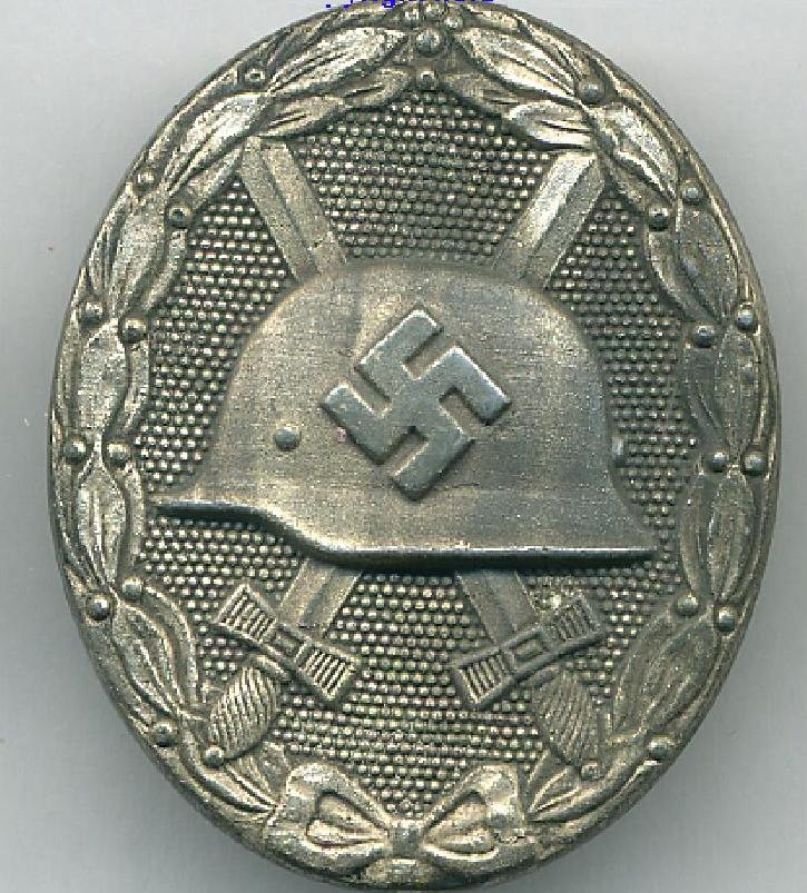 A Mid War Silver Wound Badge being the 1939 type from World War Two  by Thirdreichmedals