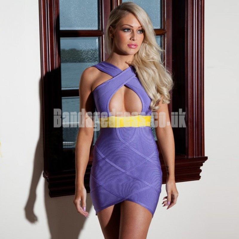 purple backless bandage dress by cheapbandagedressesuk