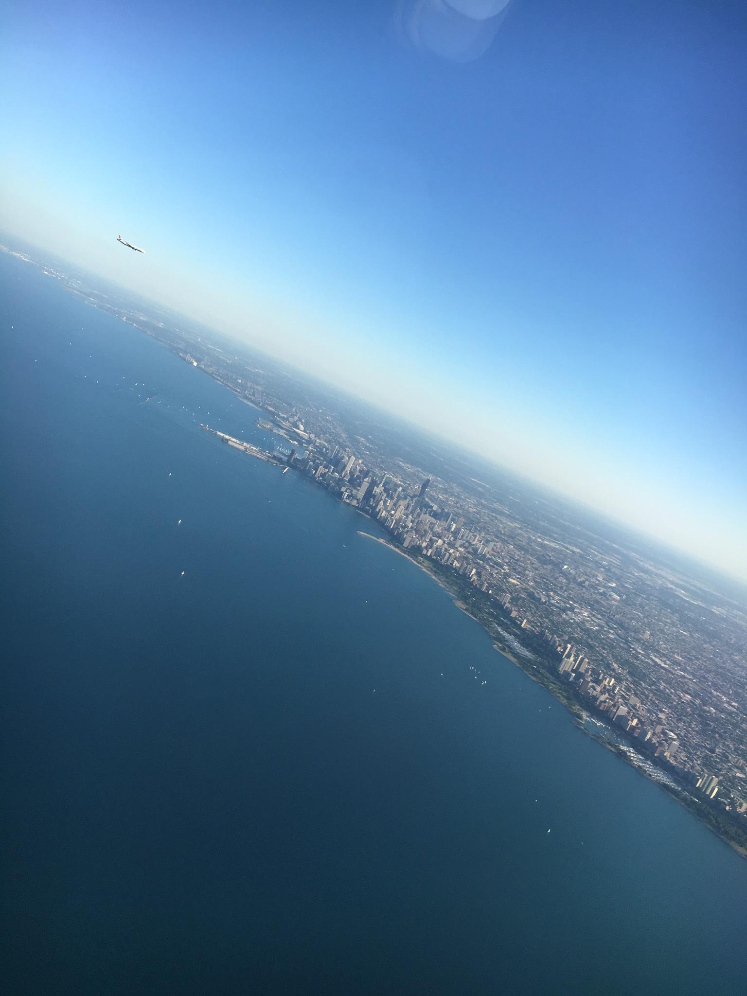 Landing in Chicago -photo taken from plane- by hazemalwajeeh13