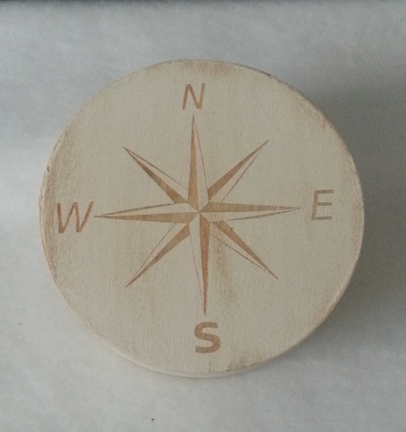 Laser Engraved Compass Box by WoodNMirrorGifts