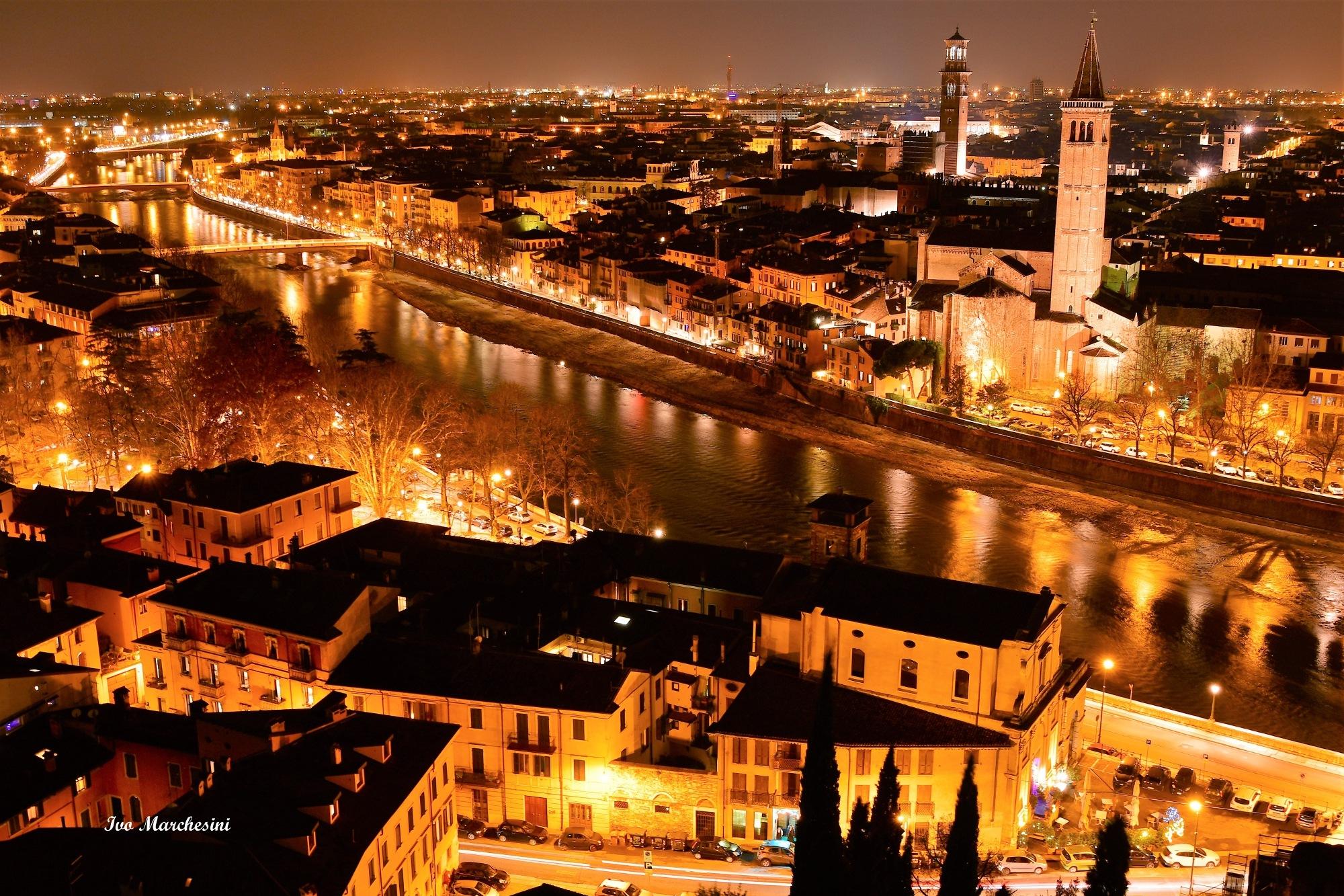 Verona night by Ivo Mar Marchesini