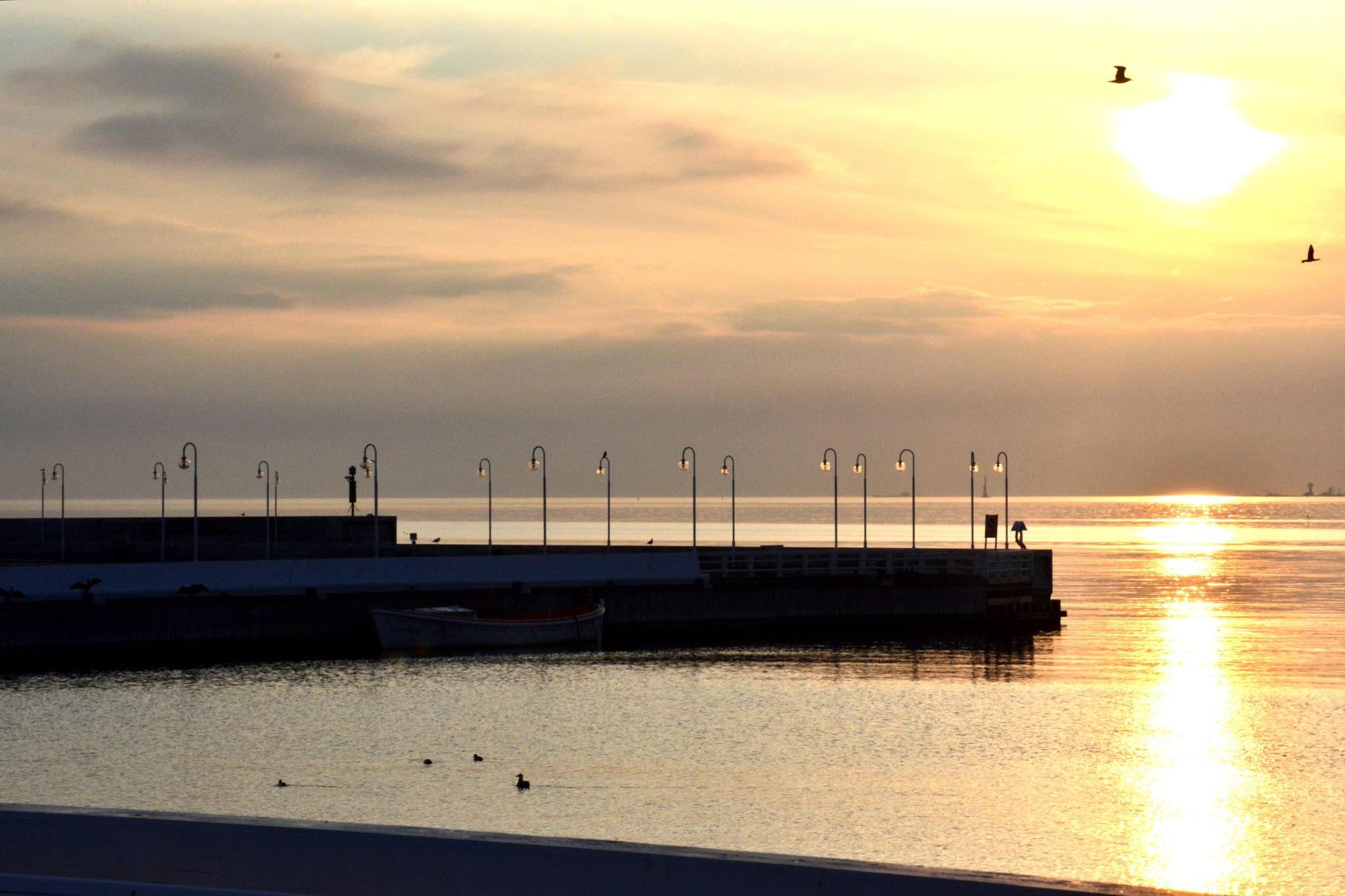 Tranquil Sunrise in Sopot by Bartek Stachyra