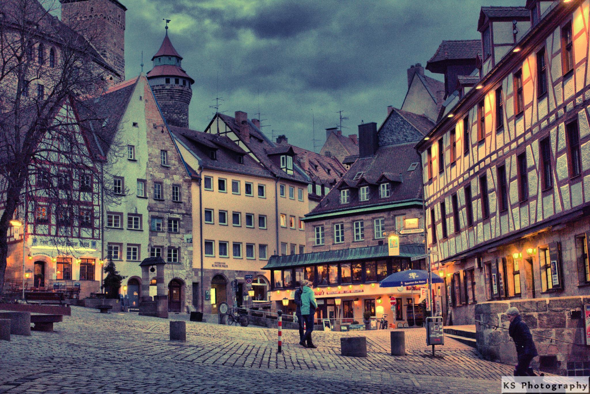 Evening in Nuerembergs Old Town by Klaus Schenker