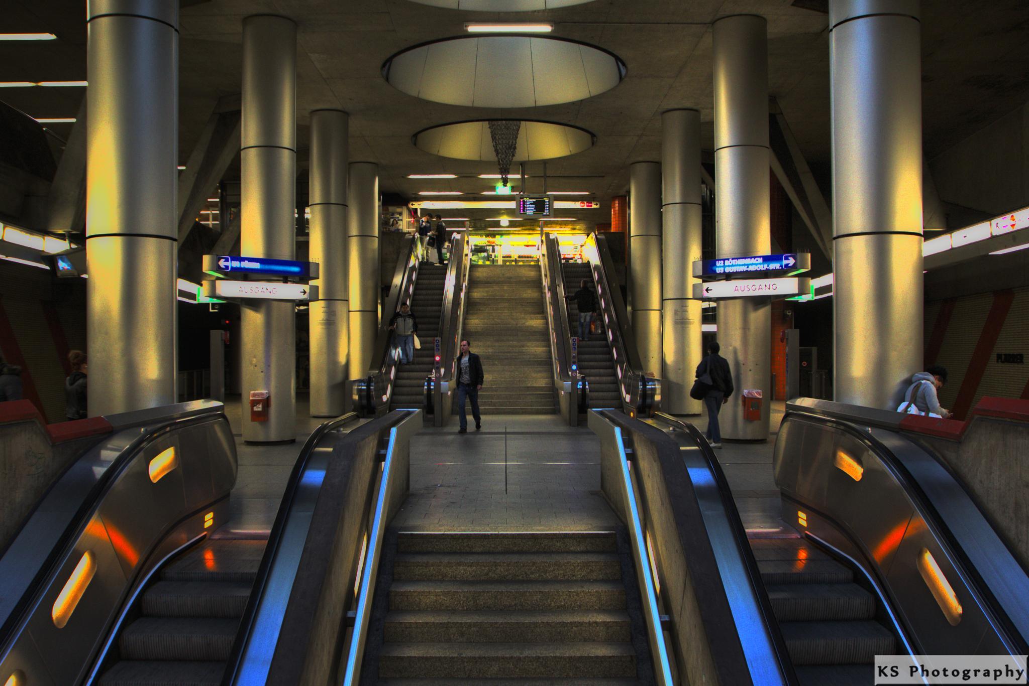 Metro Station in Nueremberg by Klaus Schenker