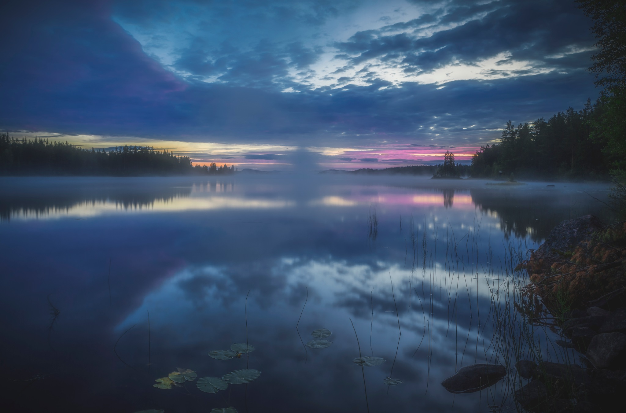 Picture from our road trip across the country. Had to stop at this lake just outside Särna,Sweden. J by Mattias Borg