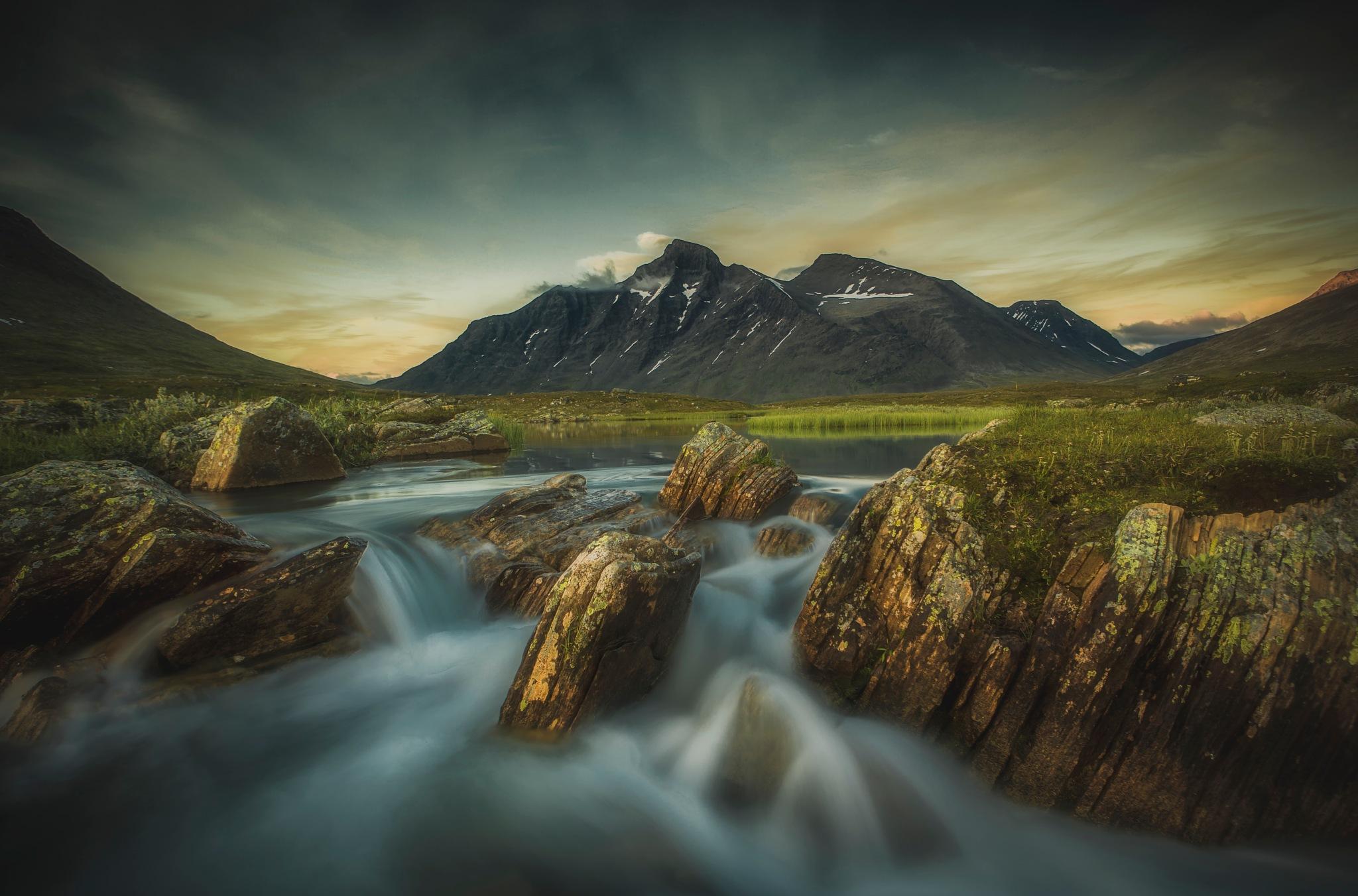 Sunset over Swedish mountain  by Mattias Borg