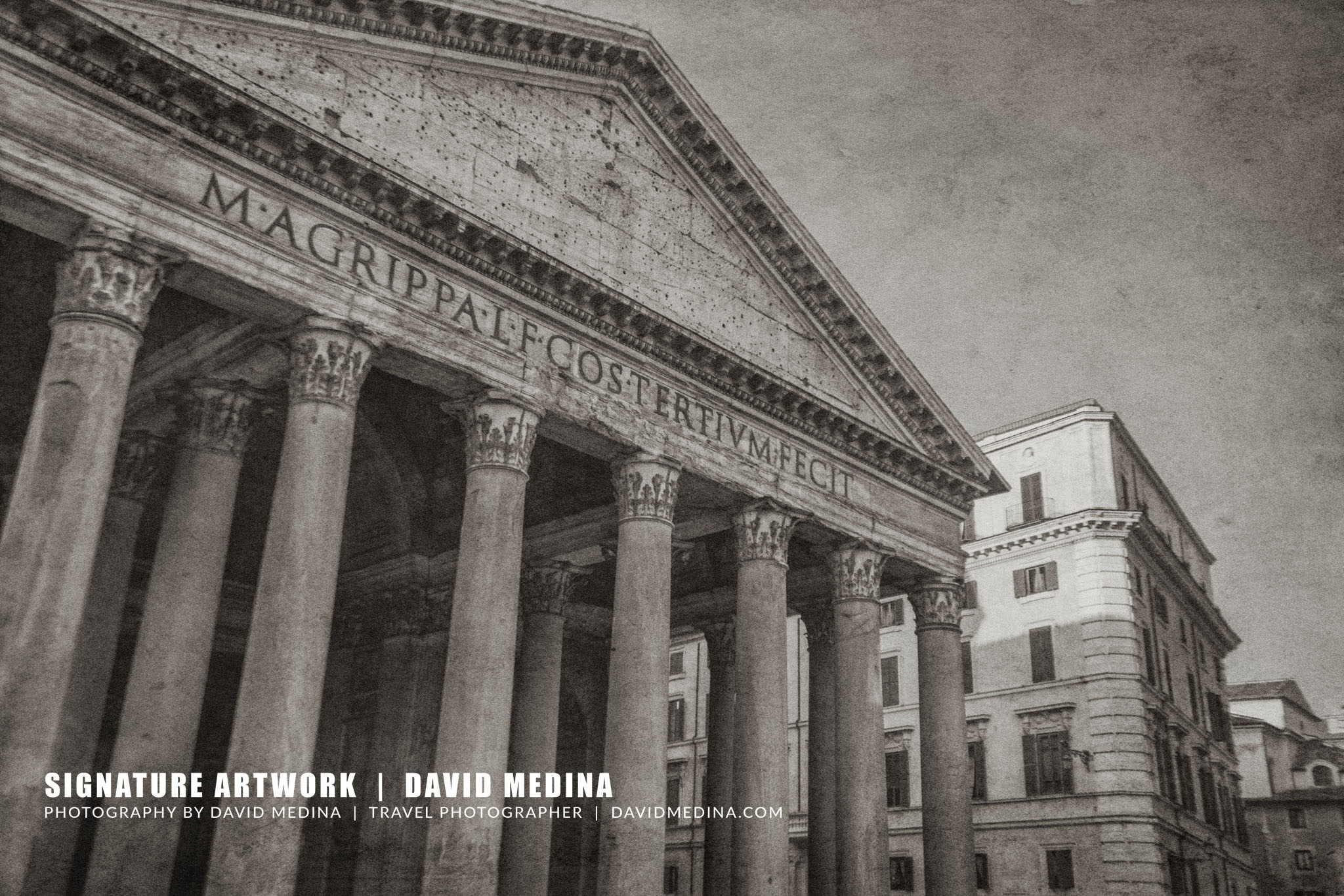 Roman Pantheon, Italy by David Medina