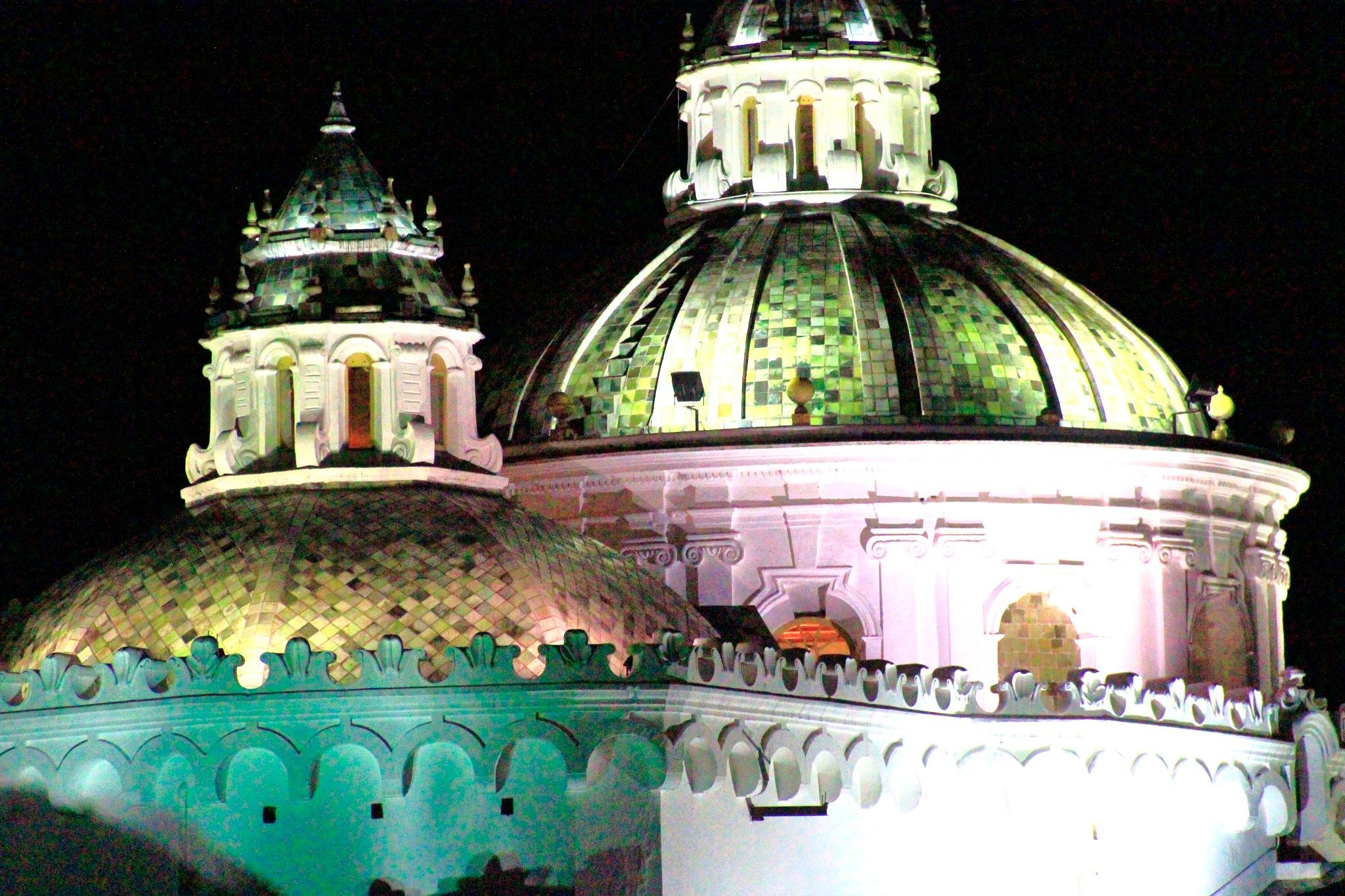 Beautiful church colors at night by Ricardo Basque